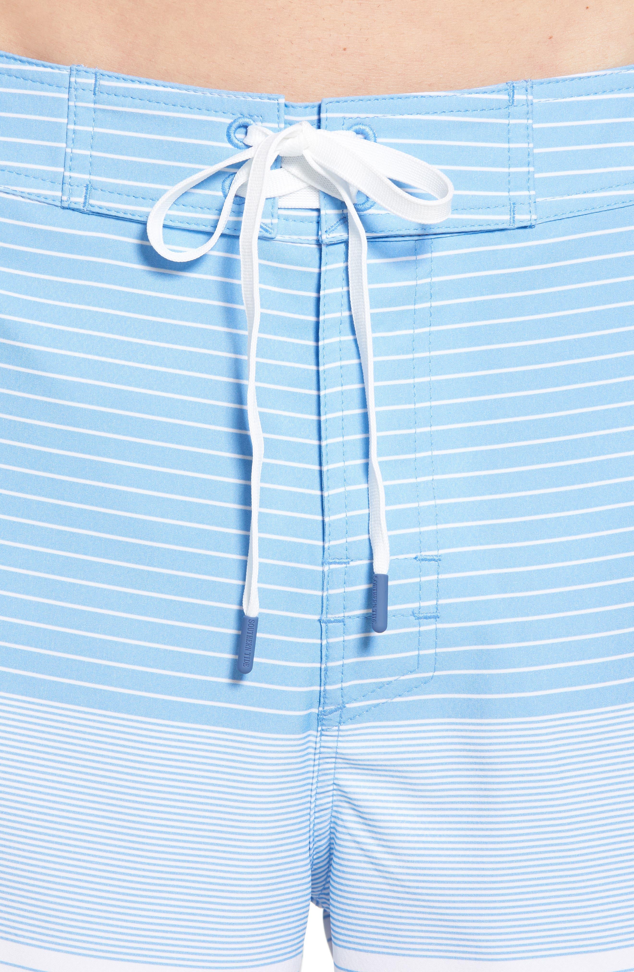 Stripe Swim Trunks,                             Alternate thumbnail 4, color,
