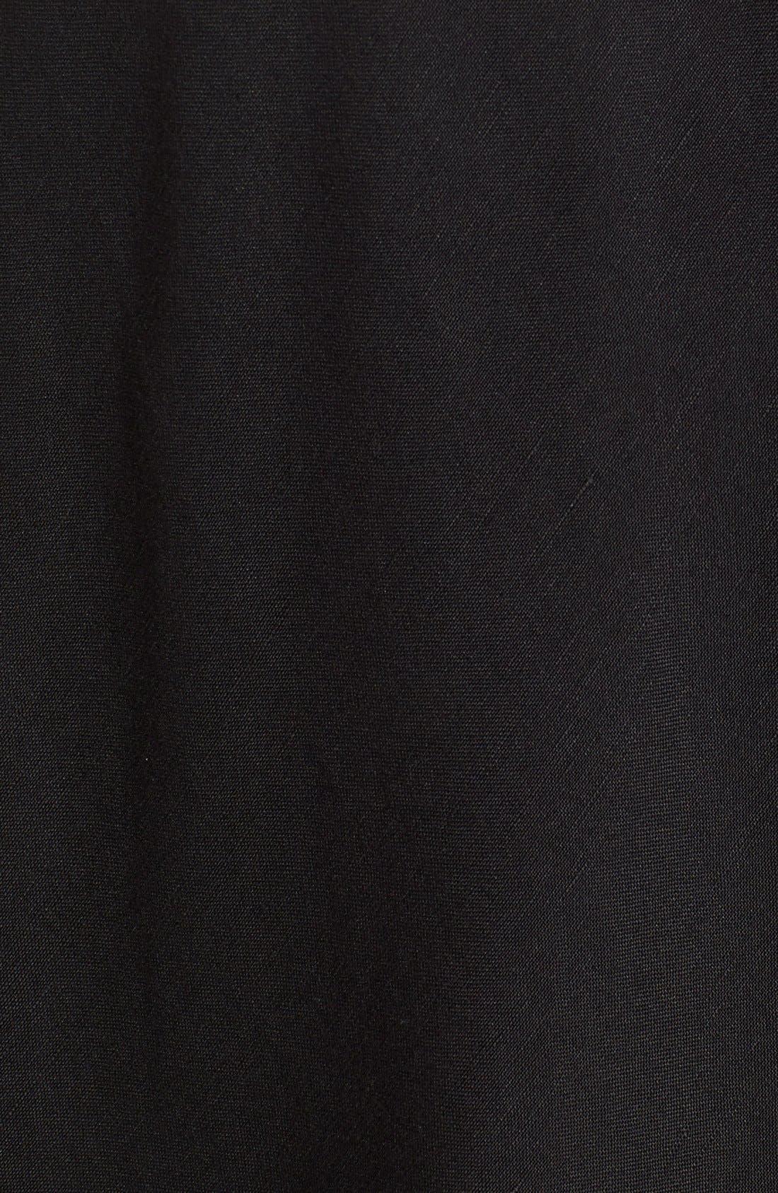 Summer Fling Linen Blend Skirt,                             Alternate thumbnail 5, color,                             BLACK ONYX