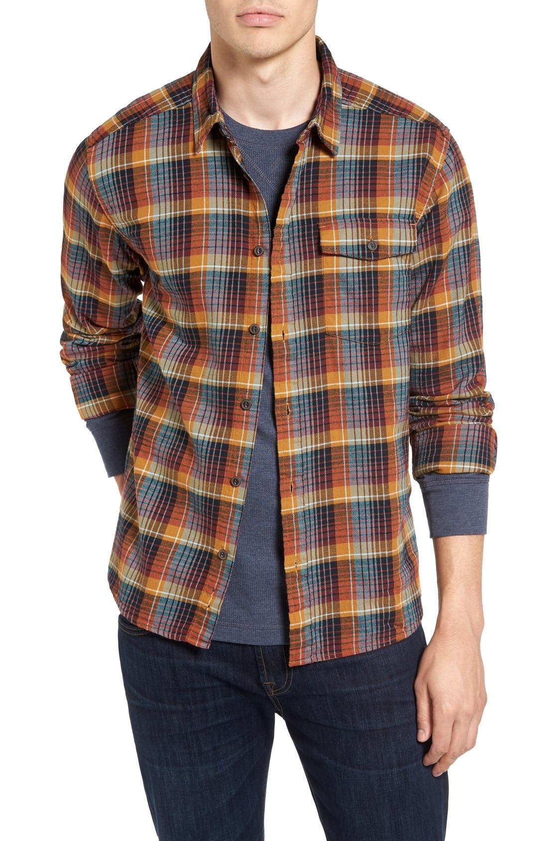Regular Fit Organic Cotton Flannel Shirt,                             Main thumbnail 10, color,