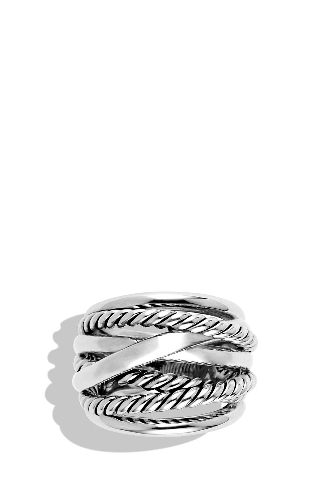 'Crossover' Wide Ring,                             Alternate thumbnail 4, color,                             NO COLOR
