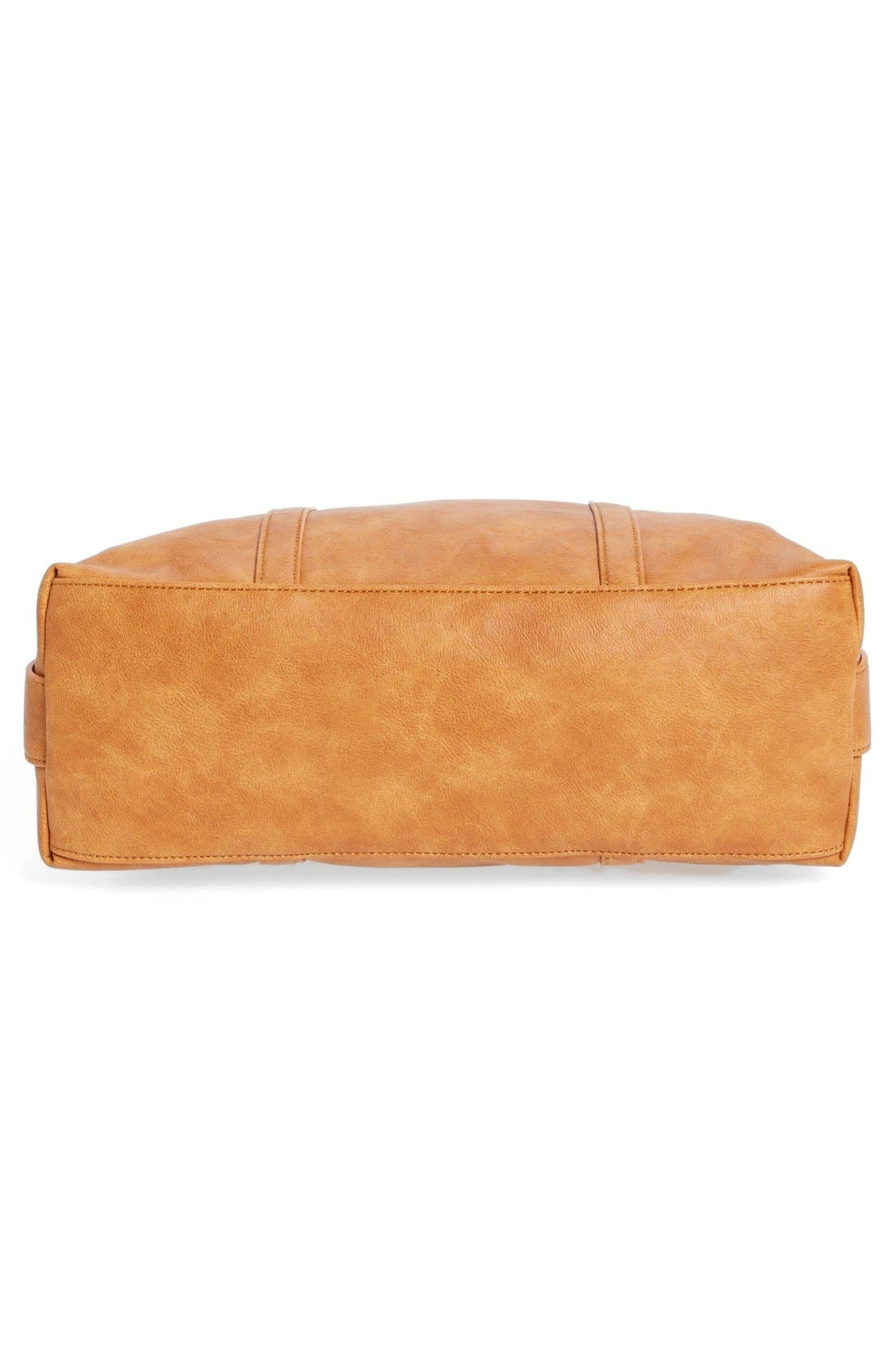 'Oliva' Faux Leather Satchel,                             Alternate thumbnail 6, color,