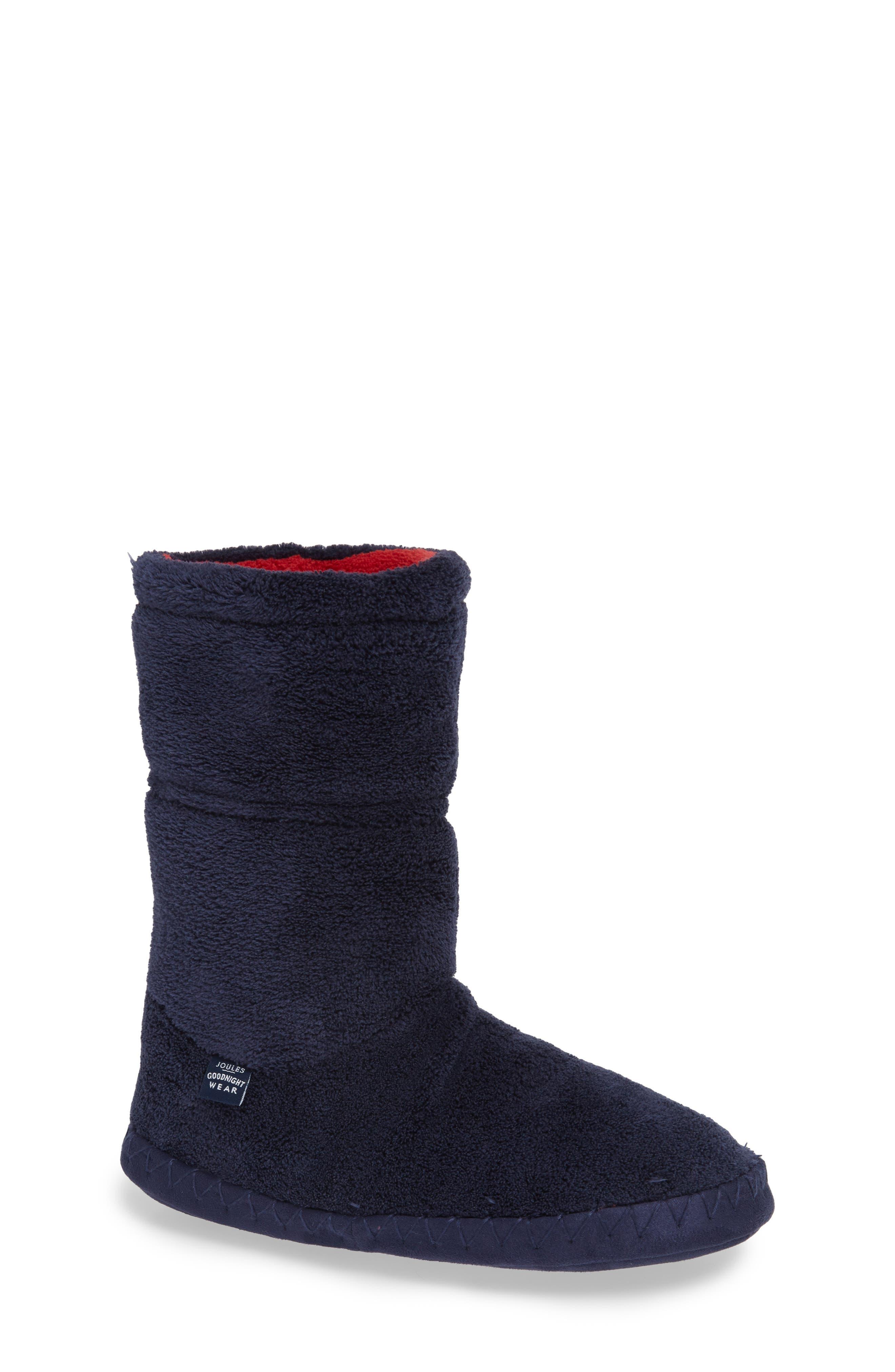 Boys Joules Fleece Lined Slippersock Size XLarge  Blue