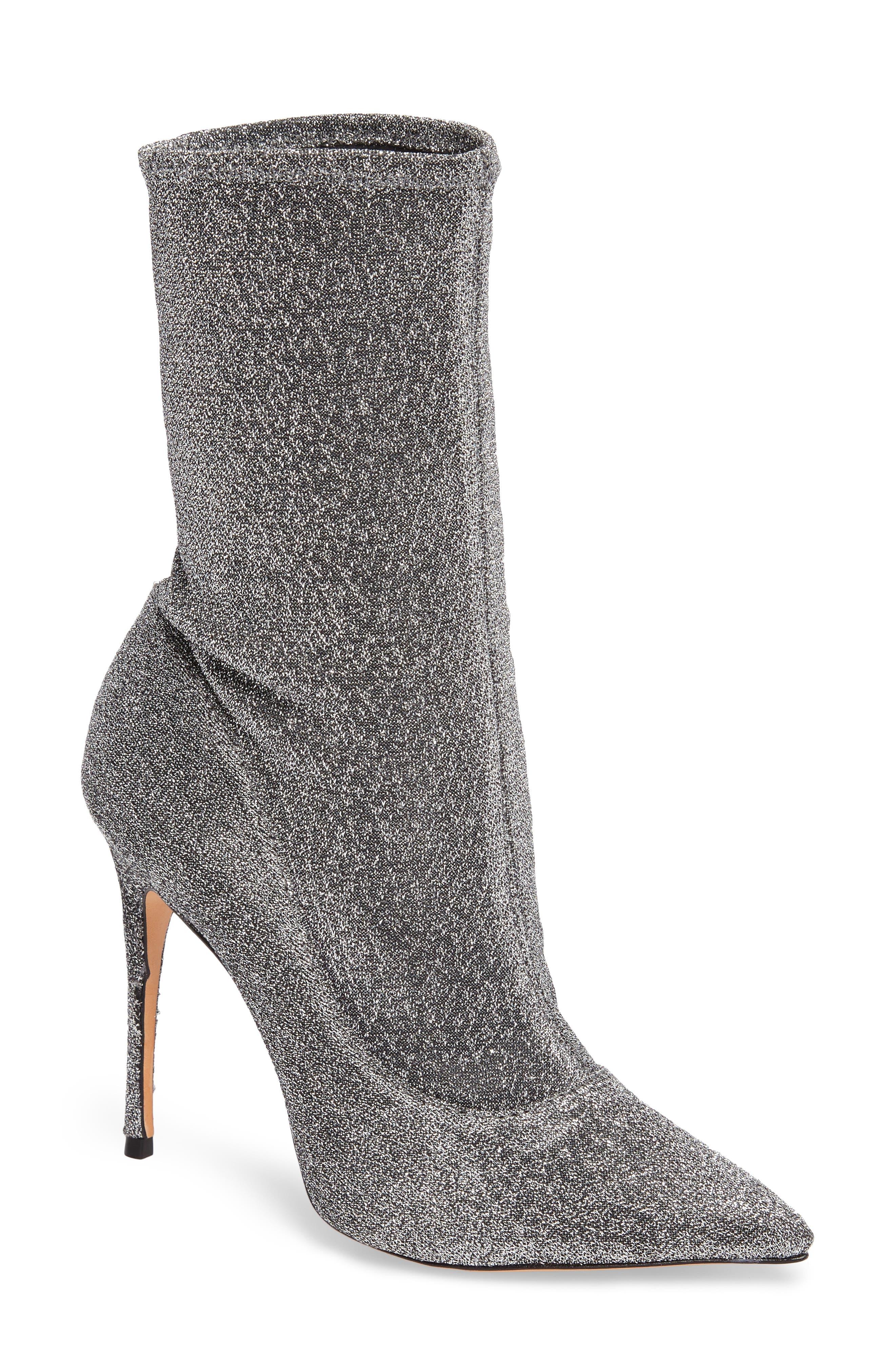 Mislane Pointy Toe Sock Bootie,                         Main,                         color, 020