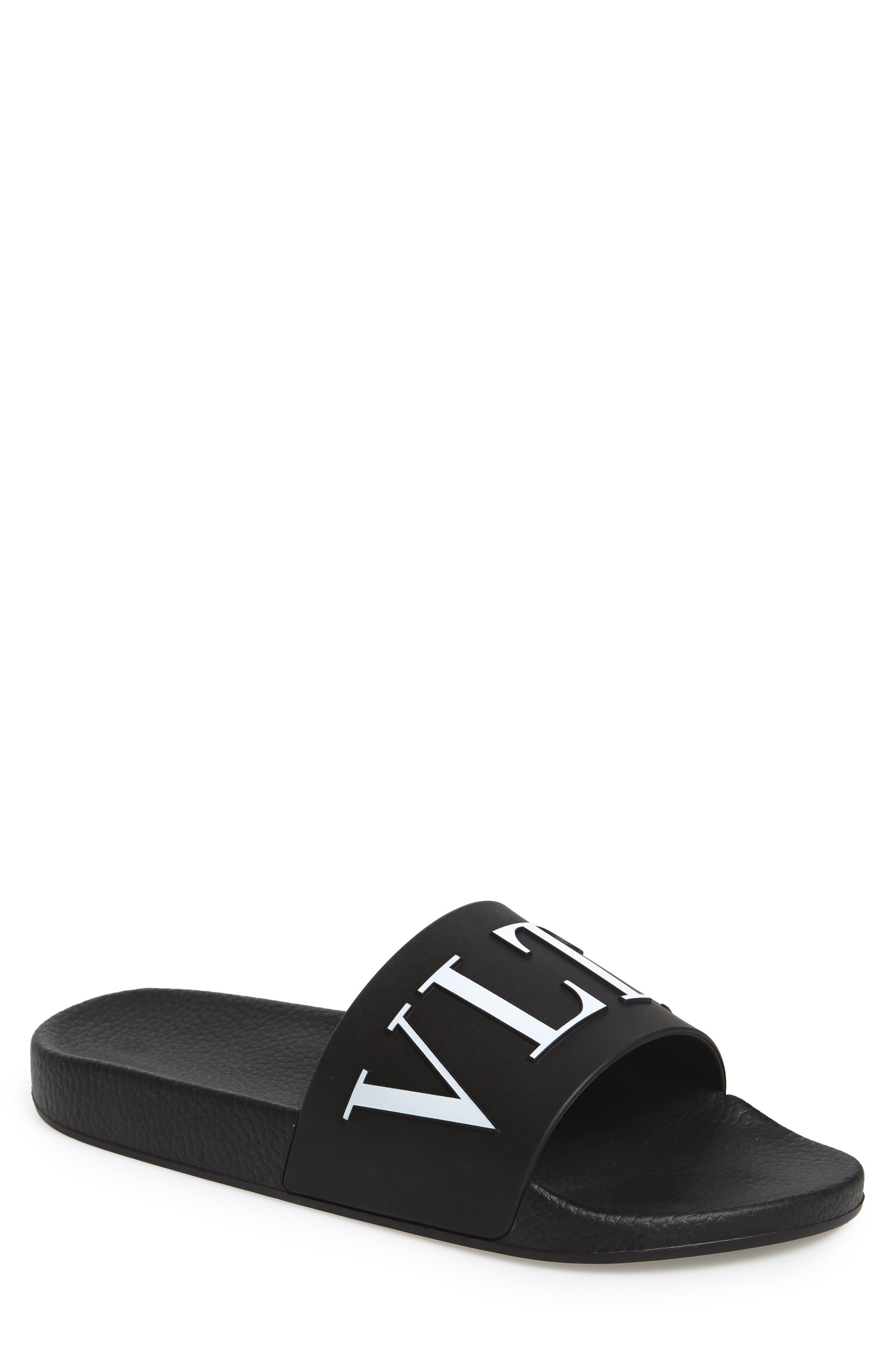Slide Sandal,                         Main,                         color, NERO/ BIANCO