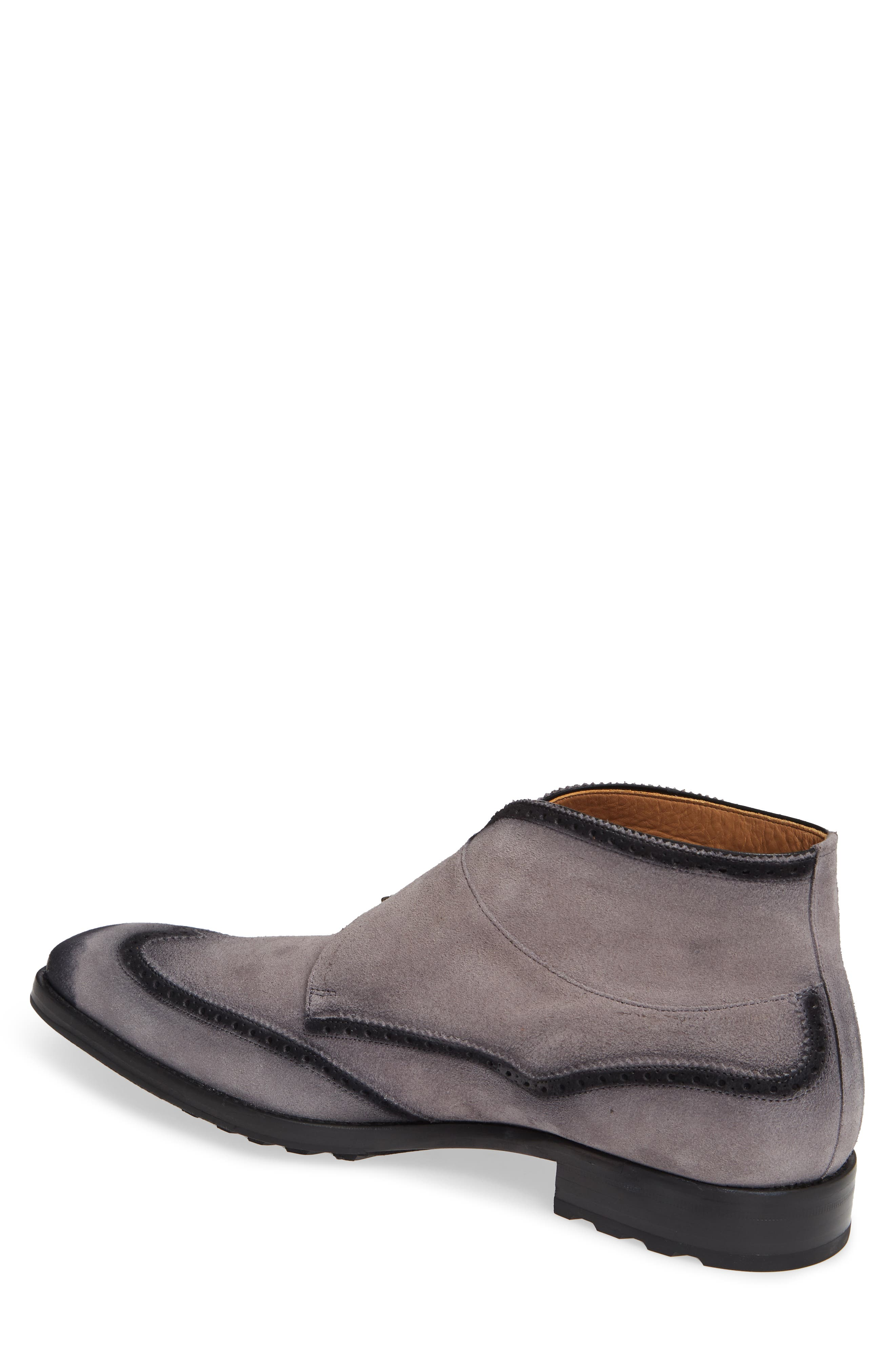 Munoz Double Monk Strap Boot,                             Alternate thumbnail 2, color,                             GREY SUEDE