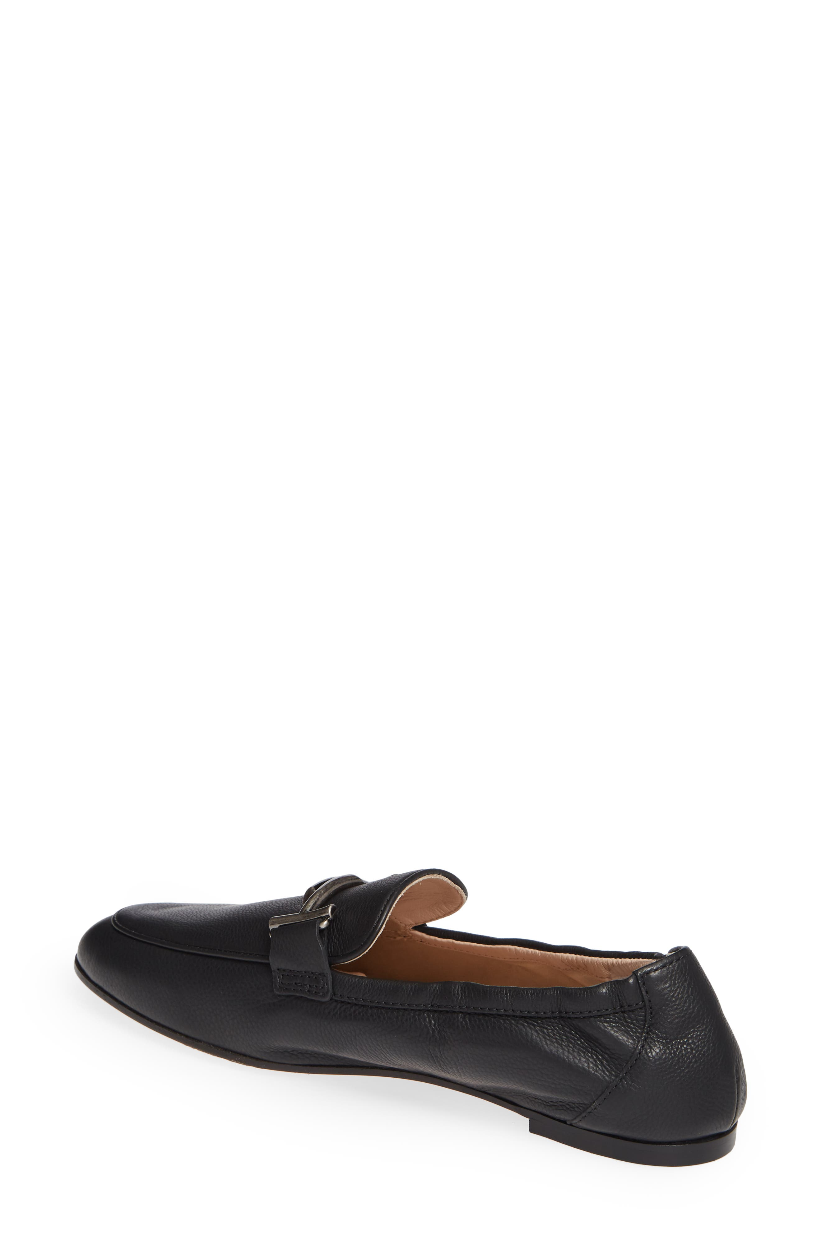 Double T Loafer,                             Alternate thumbnail 2, color,                             BLACK LEATHER