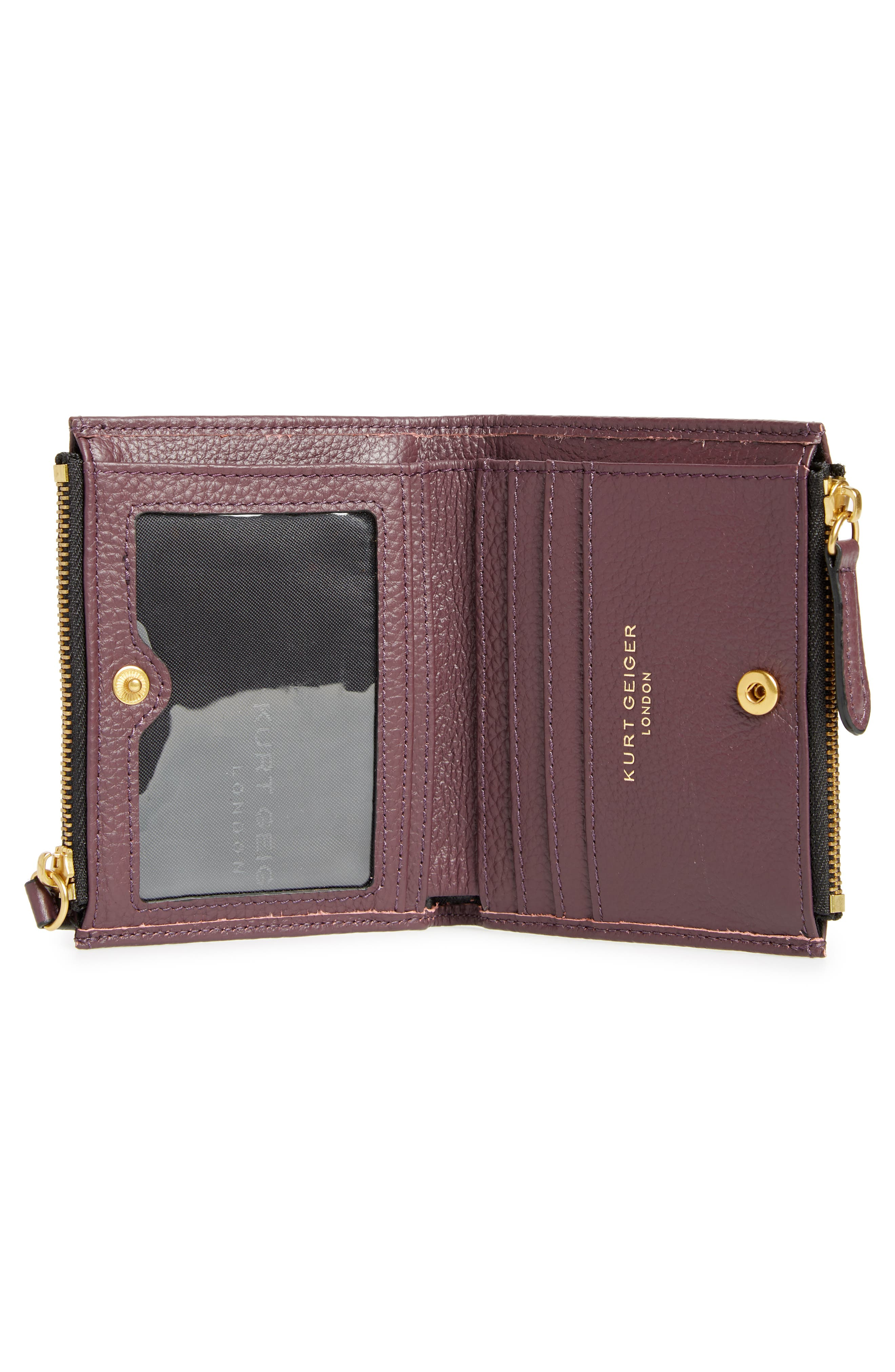 E Leather Wallet,                             Alternate thumbnail 8, color,