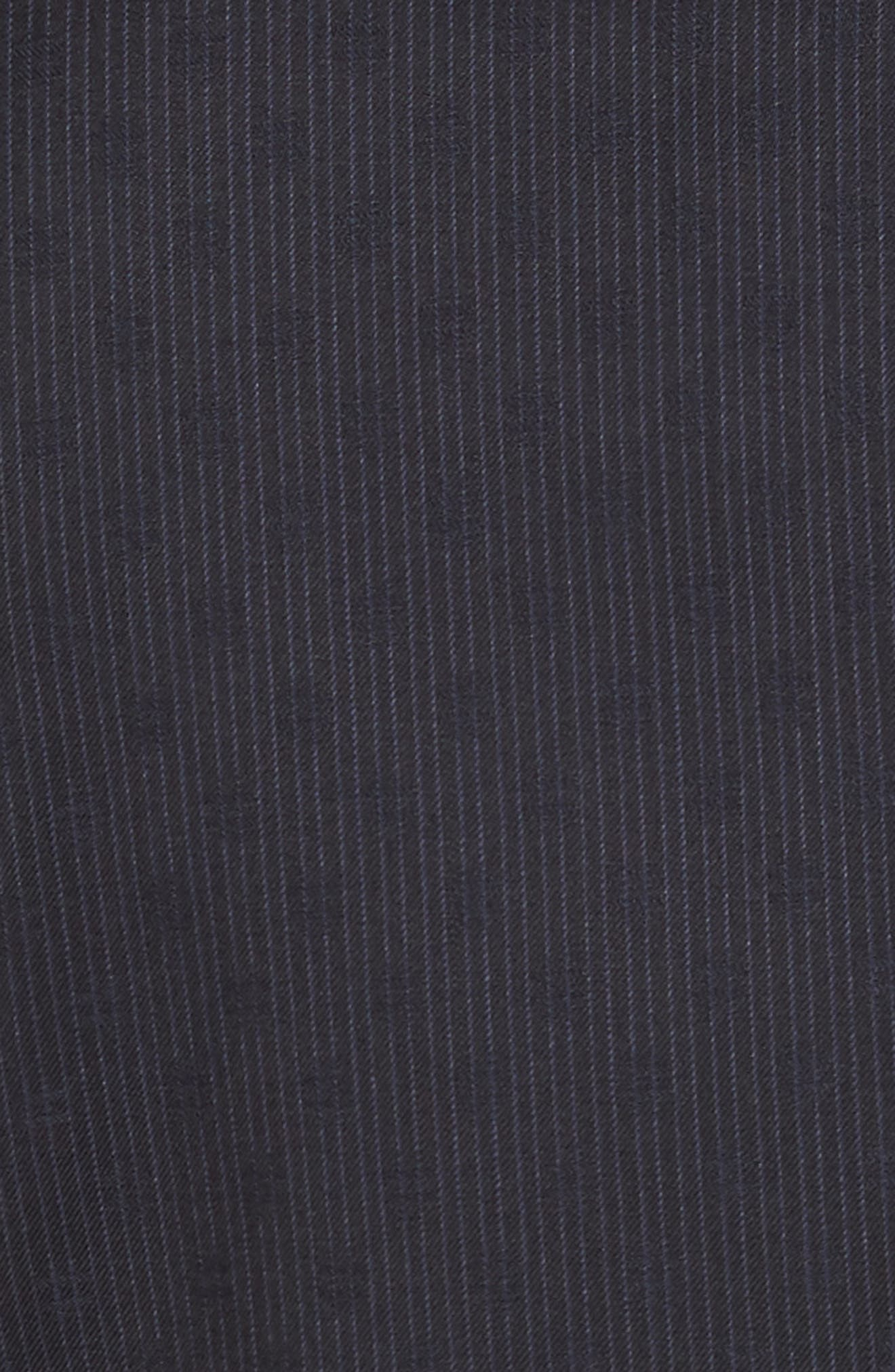 Roger Extra Trim Fit Stripe Wool Suit,                             Alternate thumbnail 6, color,                             NAVY STRIPE