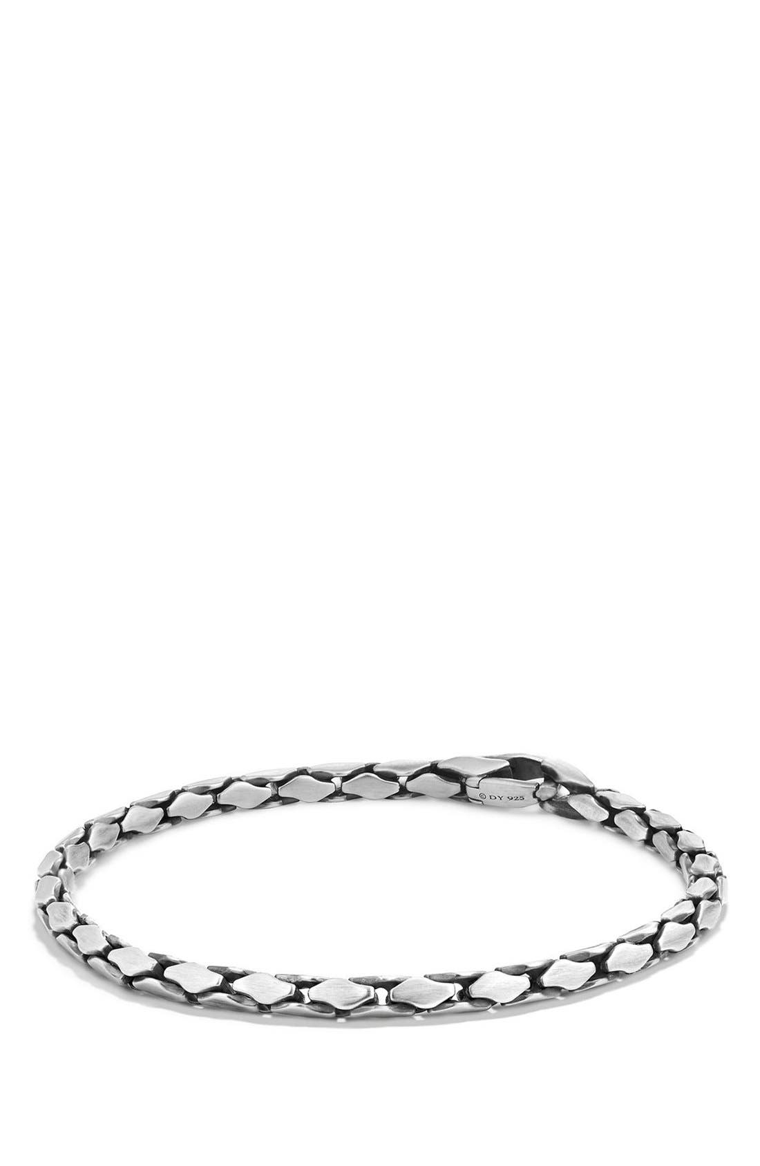 'Chain' Small Fluted Chain Bracelet,                             Main thumbnail 1, color,                             SILVER