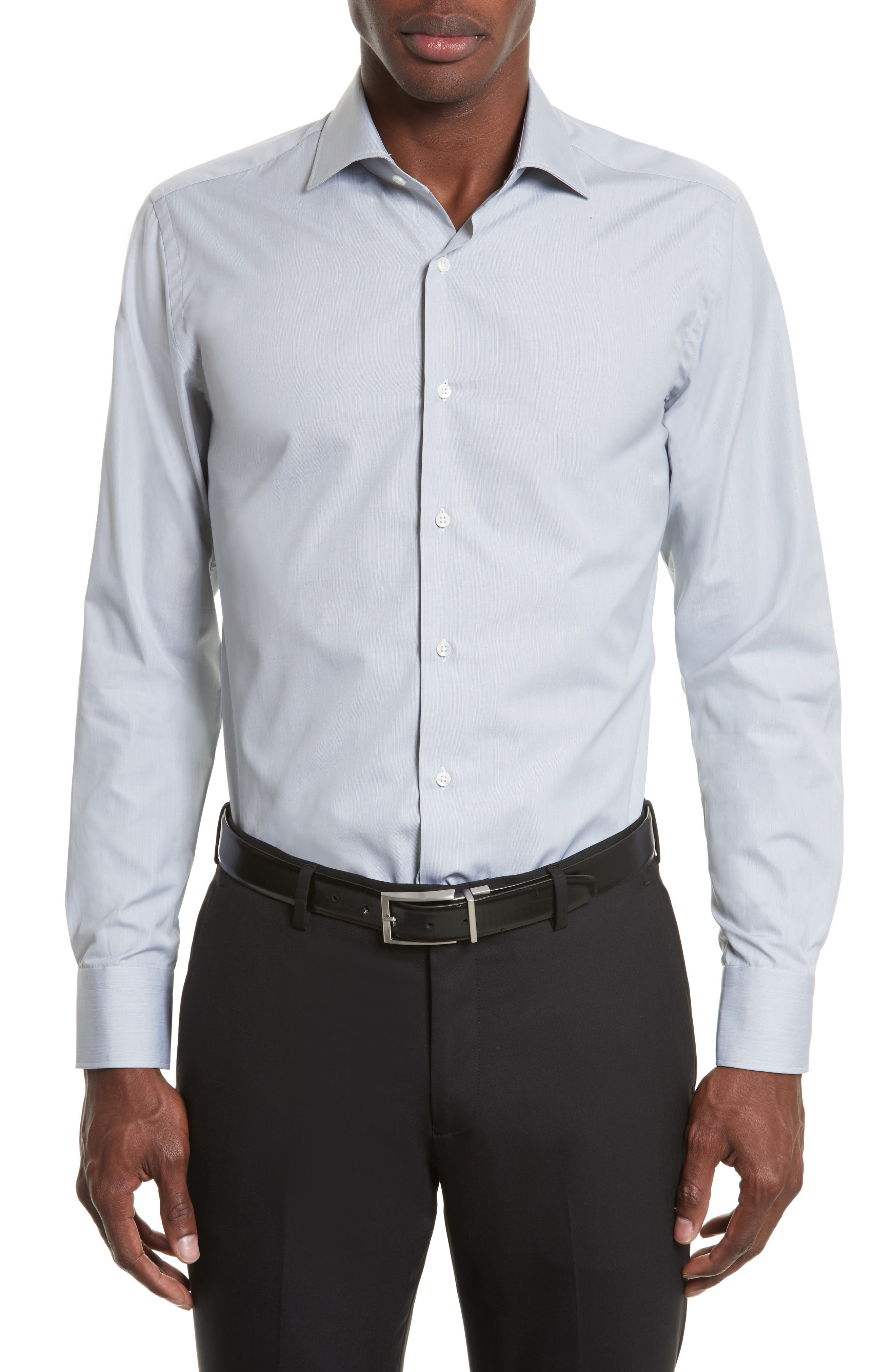 Regular Fit Solid Dress Shirt,                             Main thumbnail 1, color,                             050