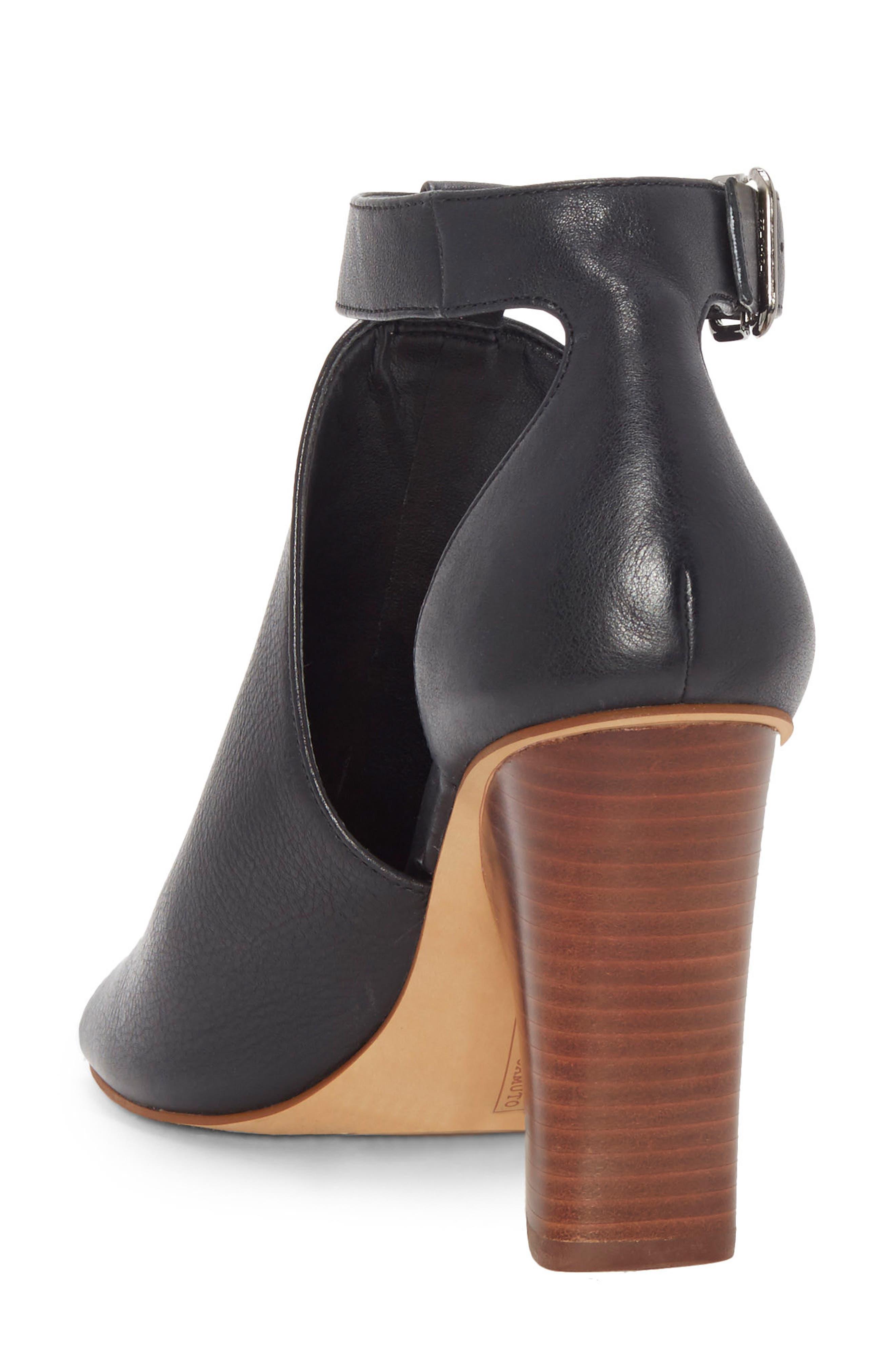 Adaren Peep Toe Sandal,                             Alternate thumbnail 2, color,                             BLACK LEATHER