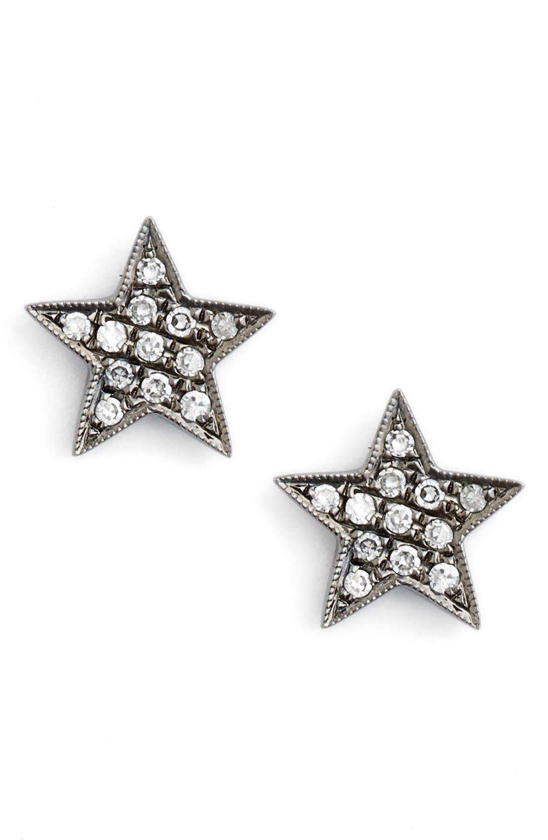 'Julianne Himiko' Diamond Star Stud Earrings,                             Main thumbnail 1, color,                             001