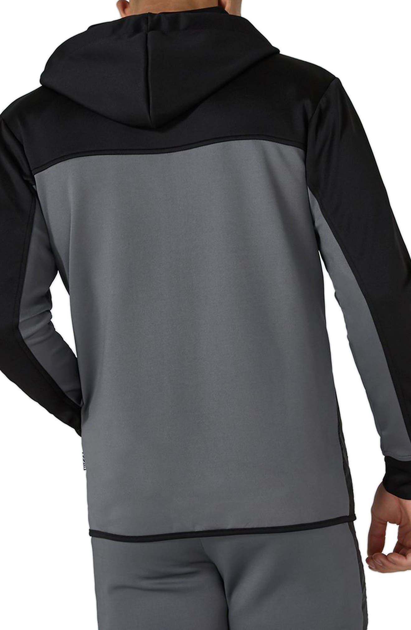 Topshop NICCE Hybrid Track Jacket,                             Alternate thumbnail 2, color,                             BLACK MULTI