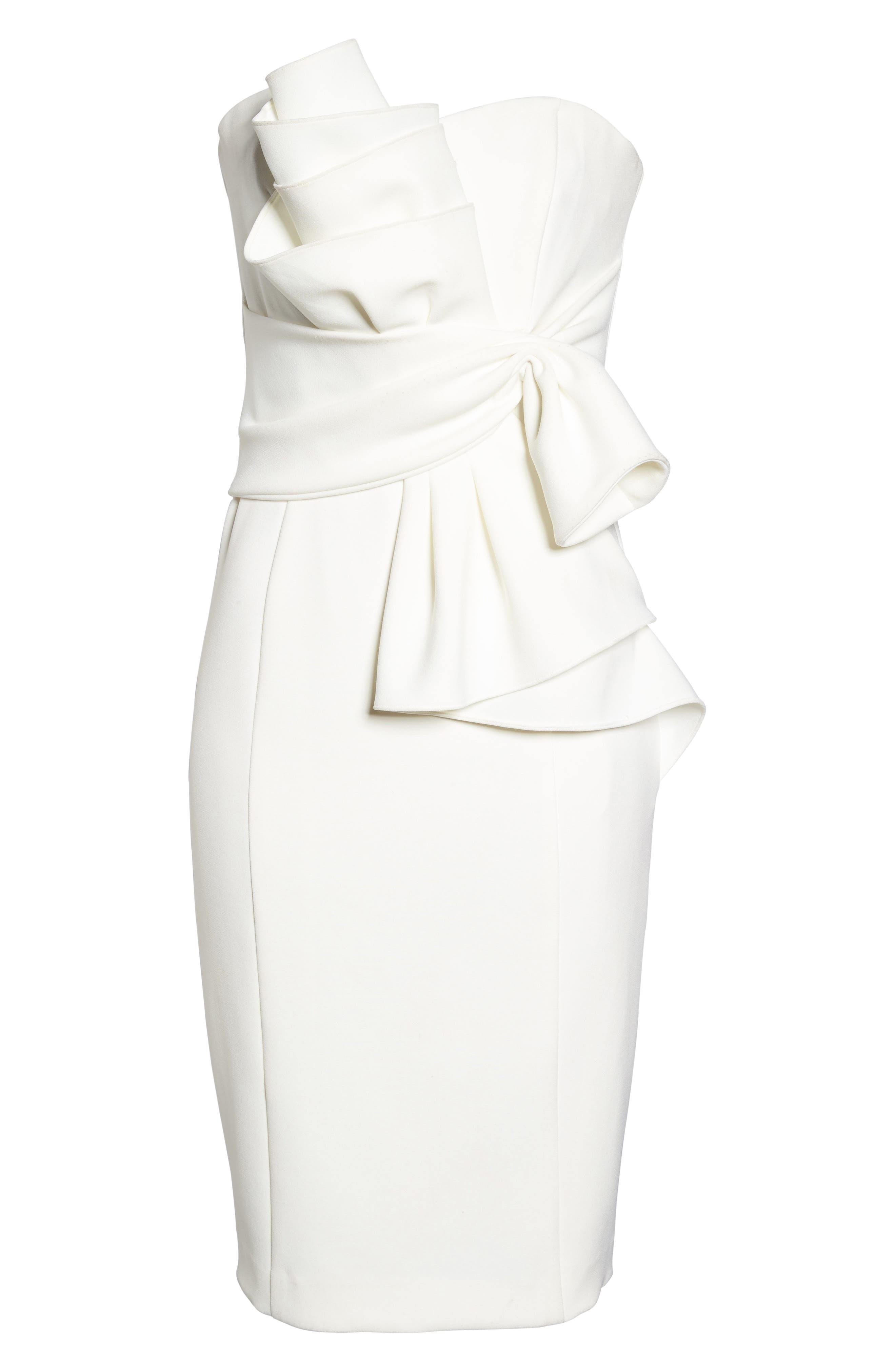 Badgley Mischka Sculpture Flower Cocktail Dress,                             Alternate thumbnail 6, color,                             906