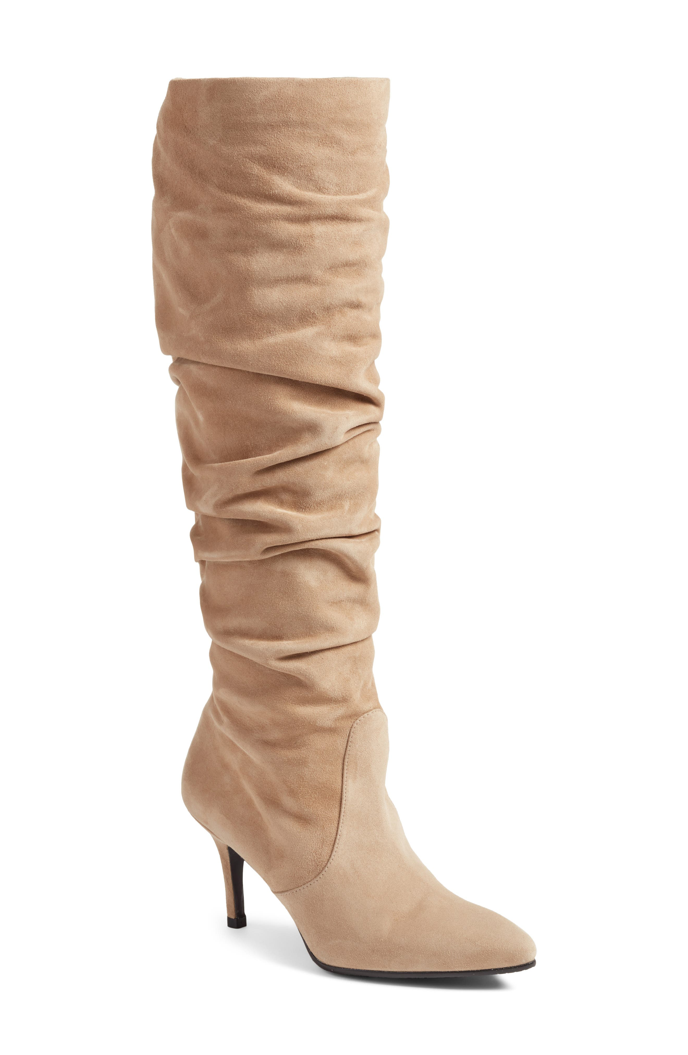 Lafayette Slouch Boot,                         Main,                         color, MOJAVE SUEDE