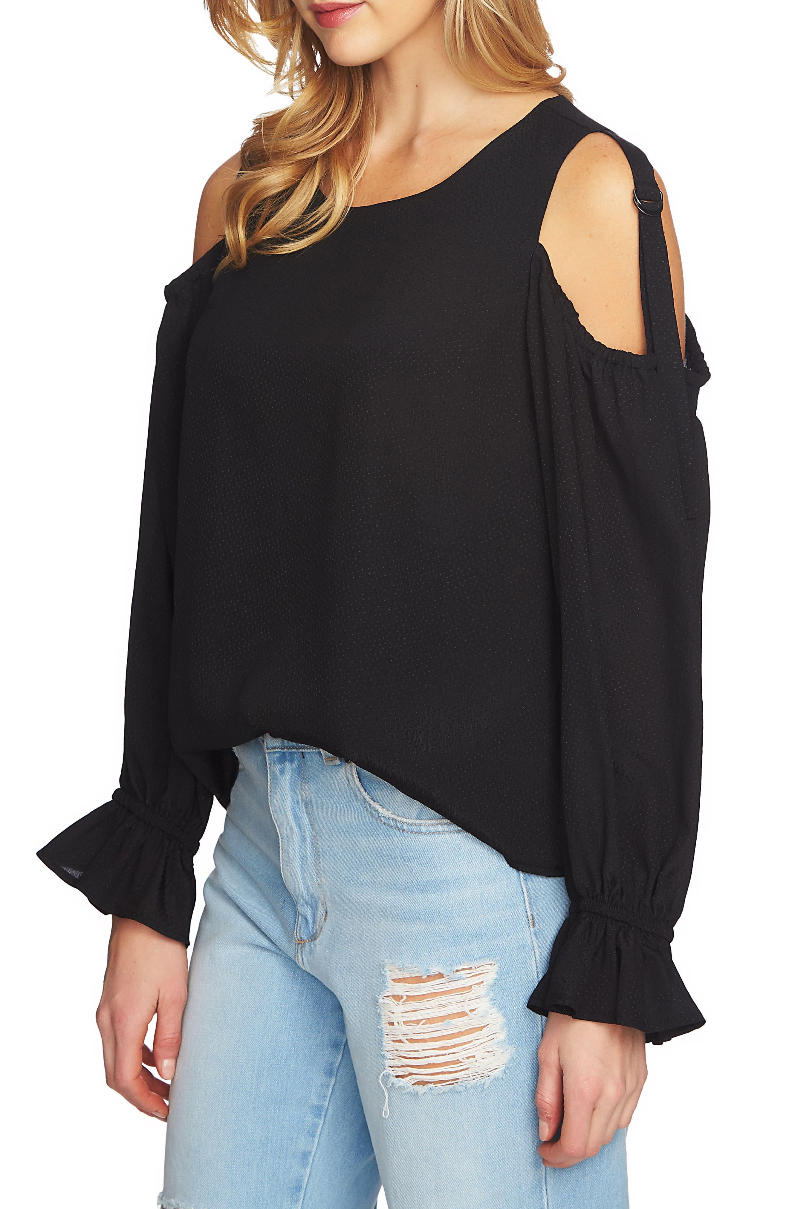 Blouson Sleeve Cold Shoulder Top,                         Main,                         color, 006