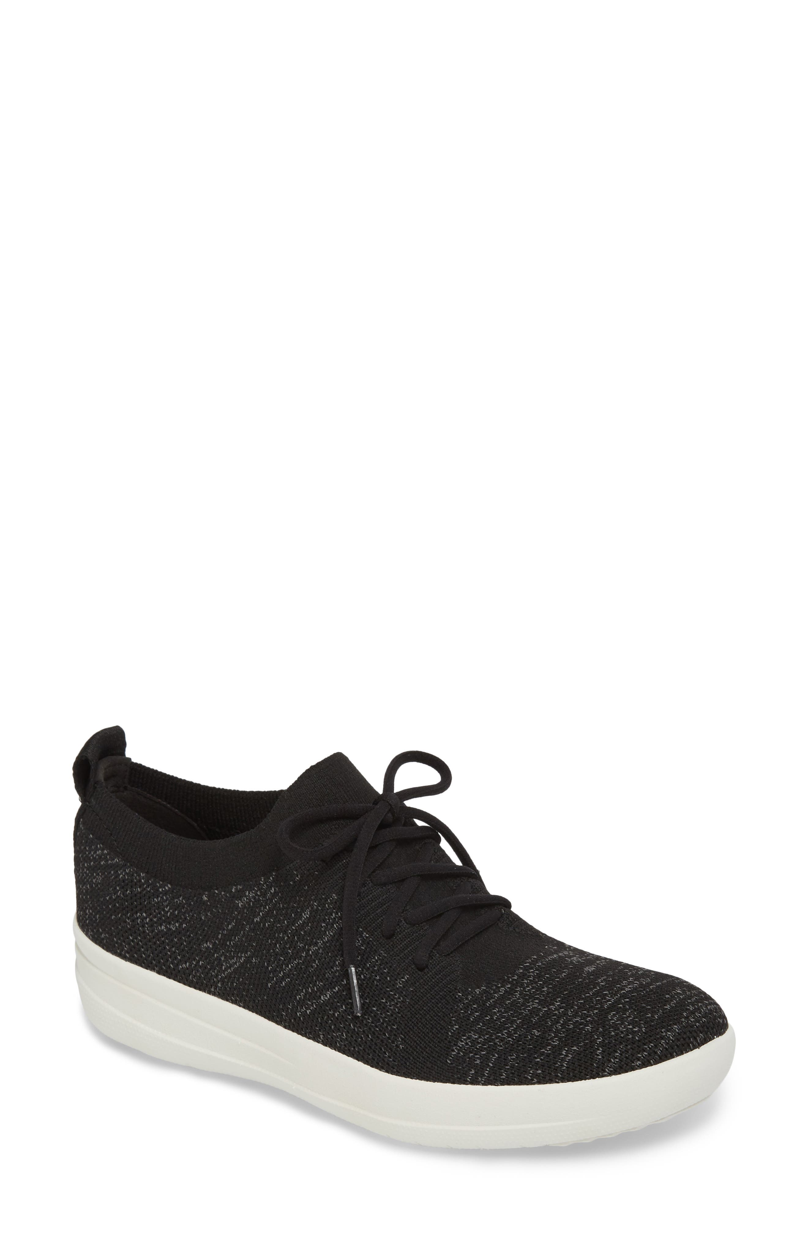 FITFLOP,                             F-Sporty Uberknit<sup>™</sup> Sneaker,                             Main thumbnail 1, color,                             BLACK