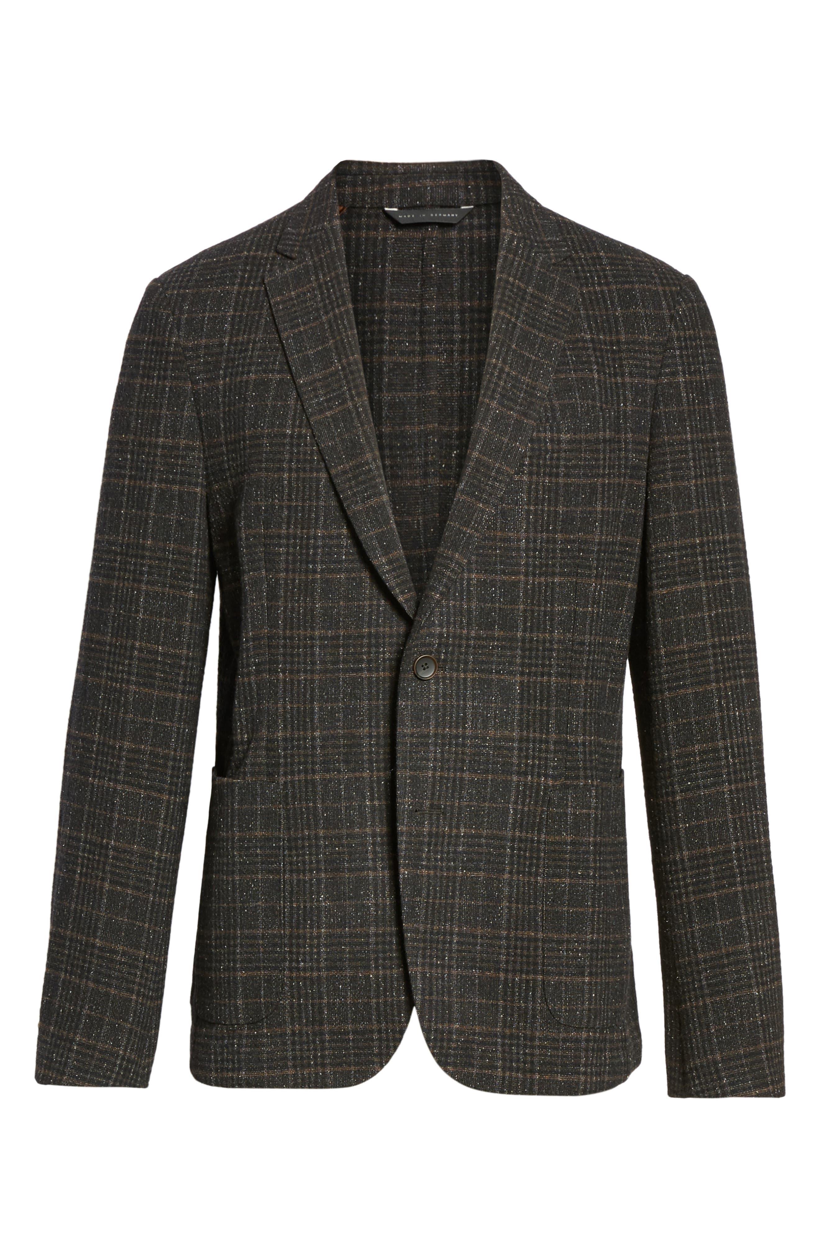 Nold Trim Fit Plaid Wool Blend Sport Coat,                             Alternate thumbnail 5, color,                             202