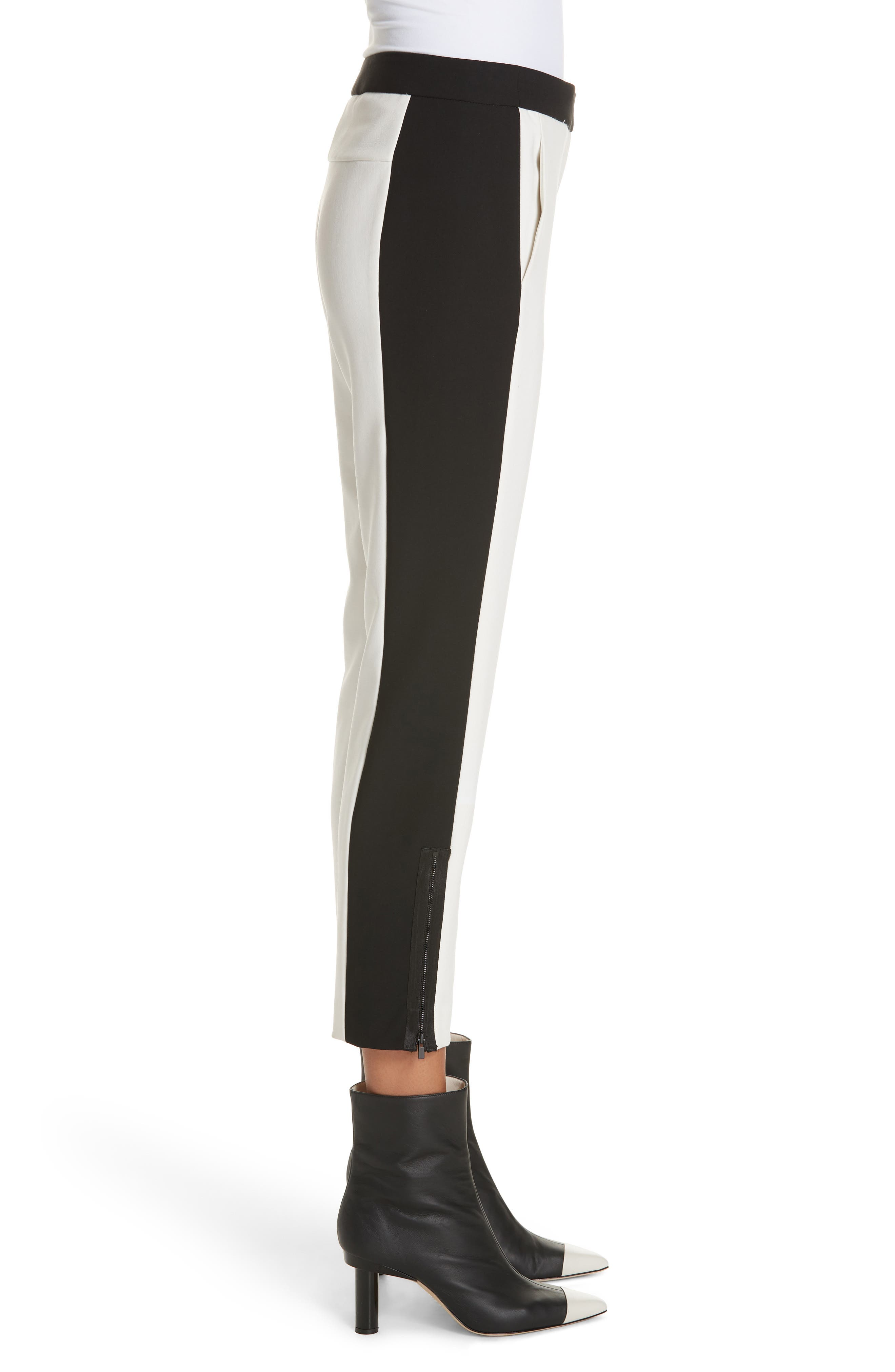 Anson Tuxedo Skinny Pants,                             Alternate thumbnail 3, color,                             IVORY MULTI