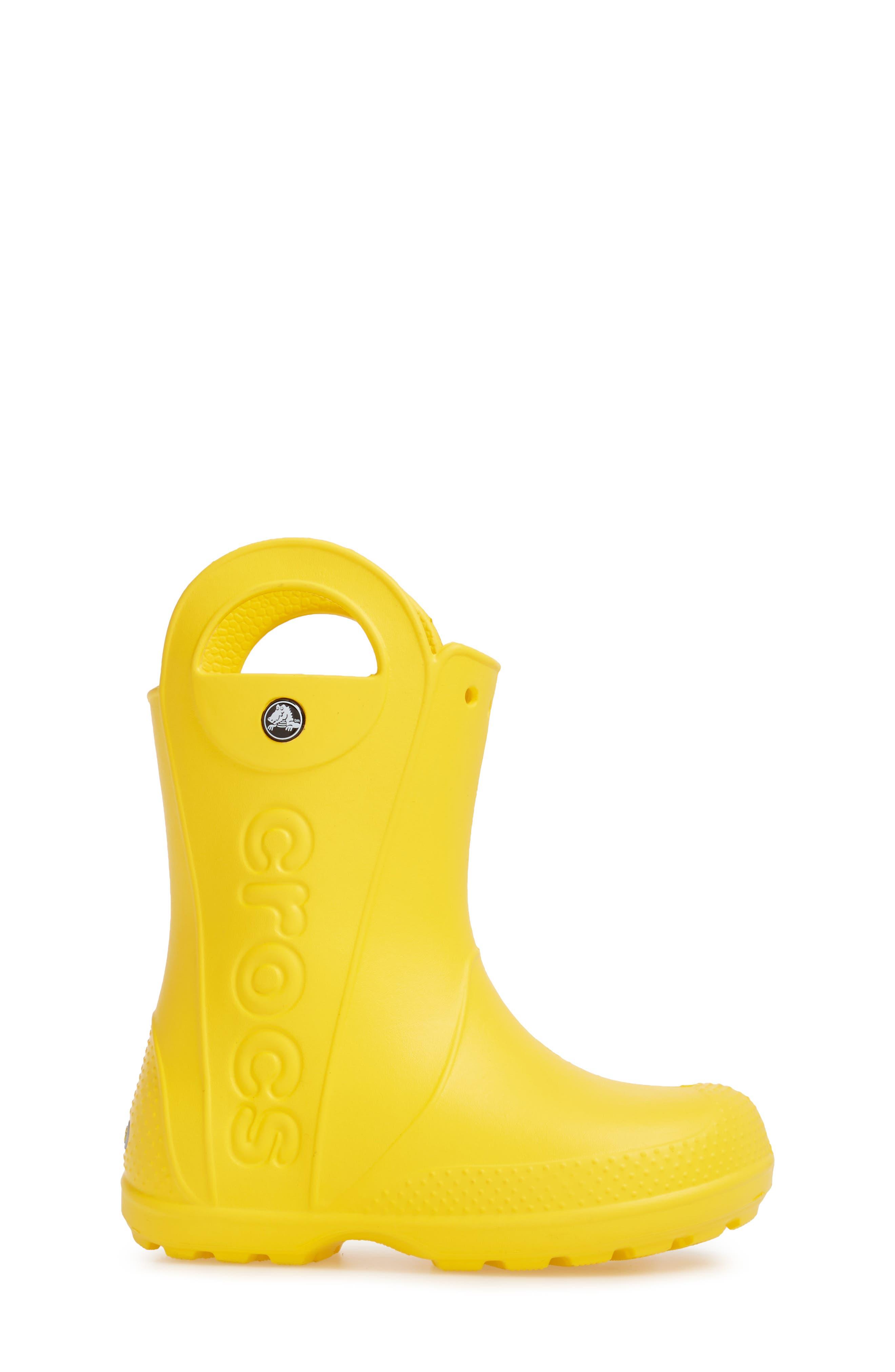 Handle It Rain Boot,                             Alternate thumbnail 3, color,                             YELLOW