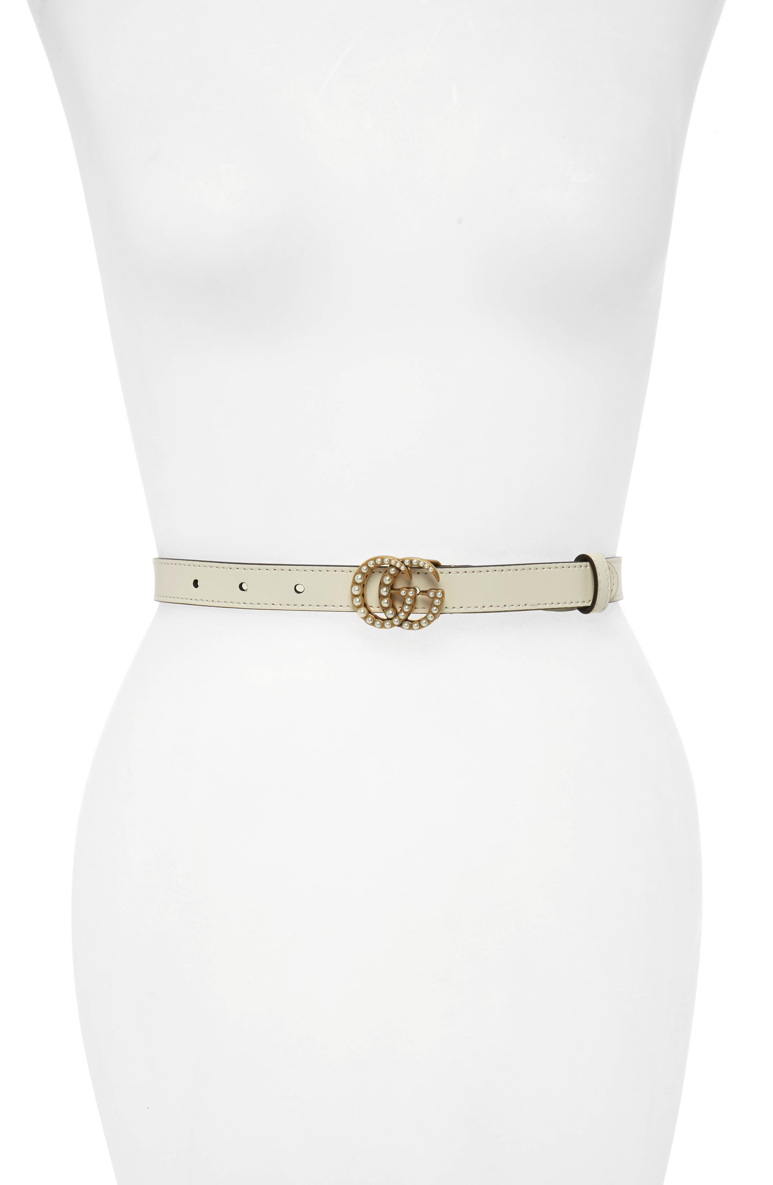 Calfskin Leather Skinny Belt,                             Main thumbnail 2, color,