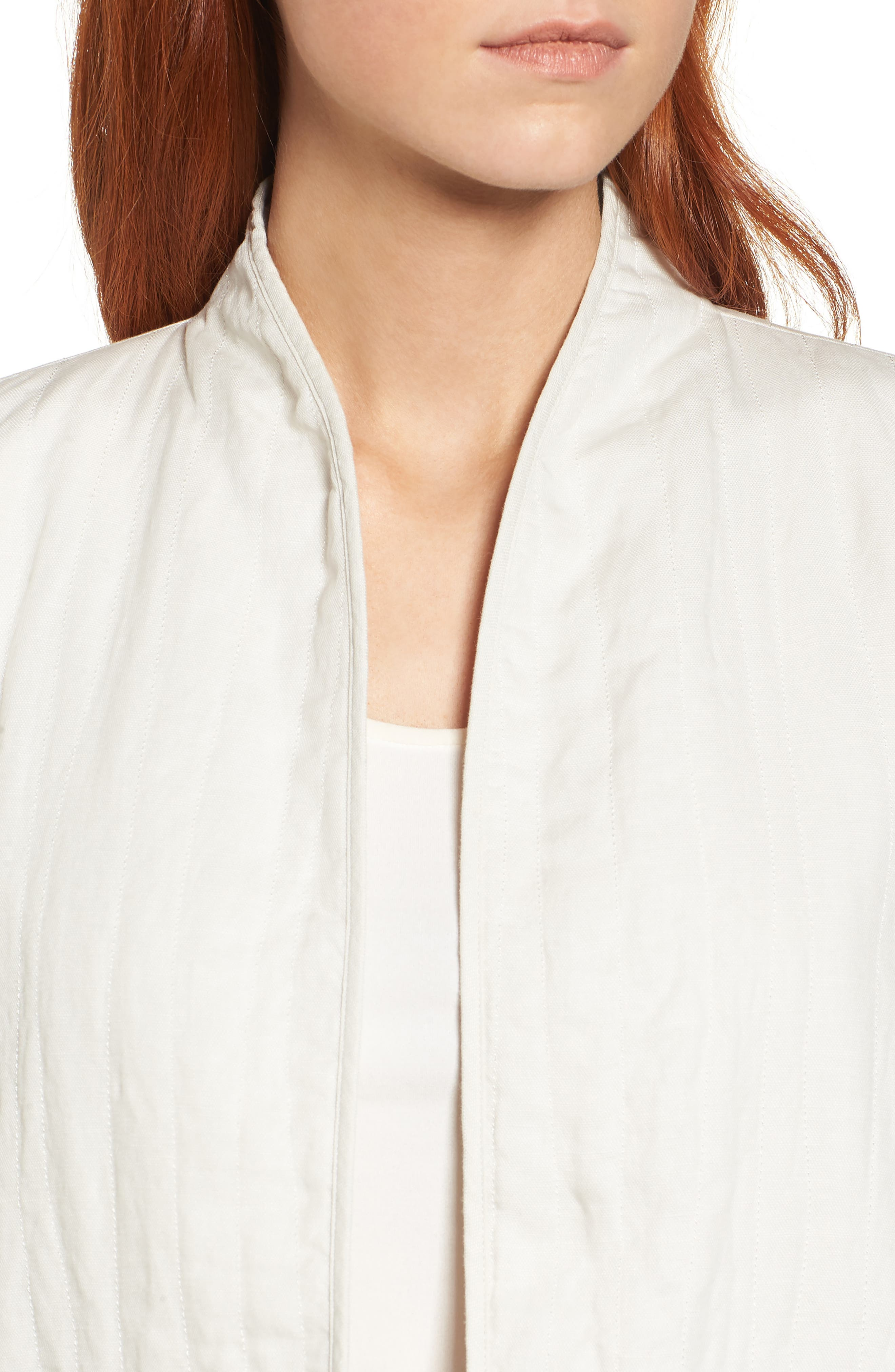 High Collar Quilted Jacket,                             Alternate thumbnail 11, color,