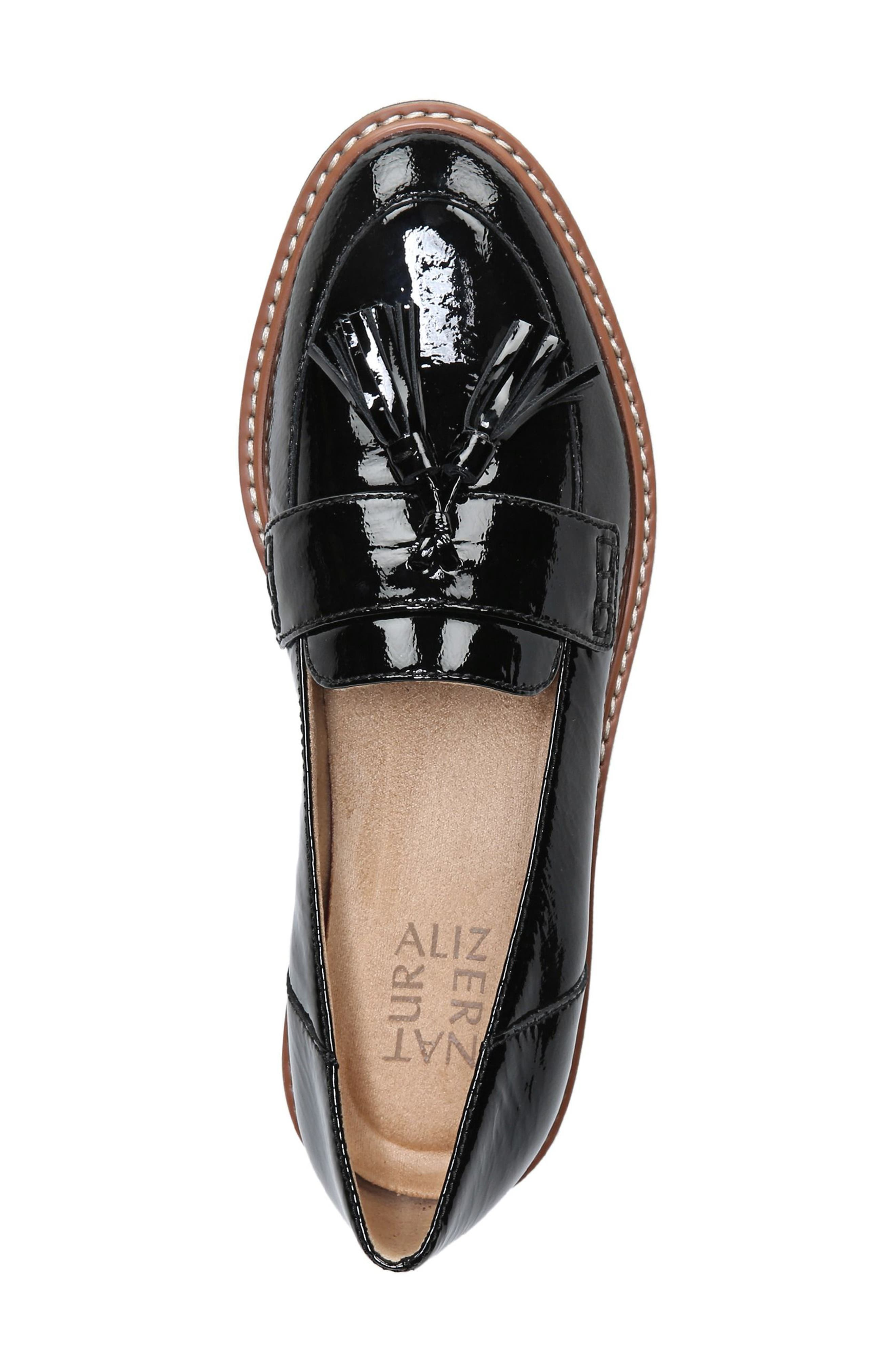 August Loafer,                             Alternate thumbnail 5, color,                             BLACK PATENT LEATHER
