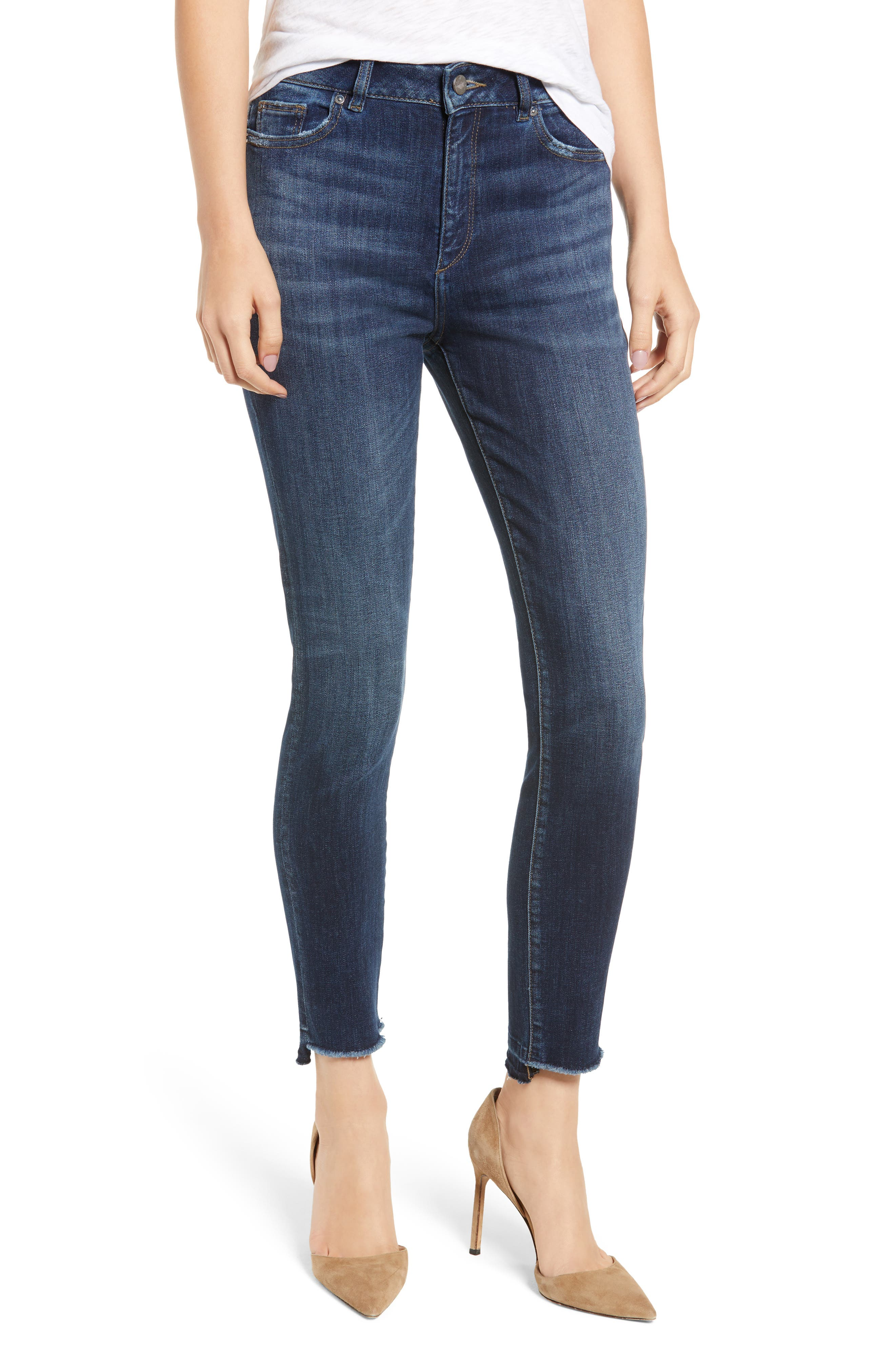 Chrissy Ultra High Waist Ankle Skinny Jeans,                             Main thumbnail 1, color,                             WAKELY