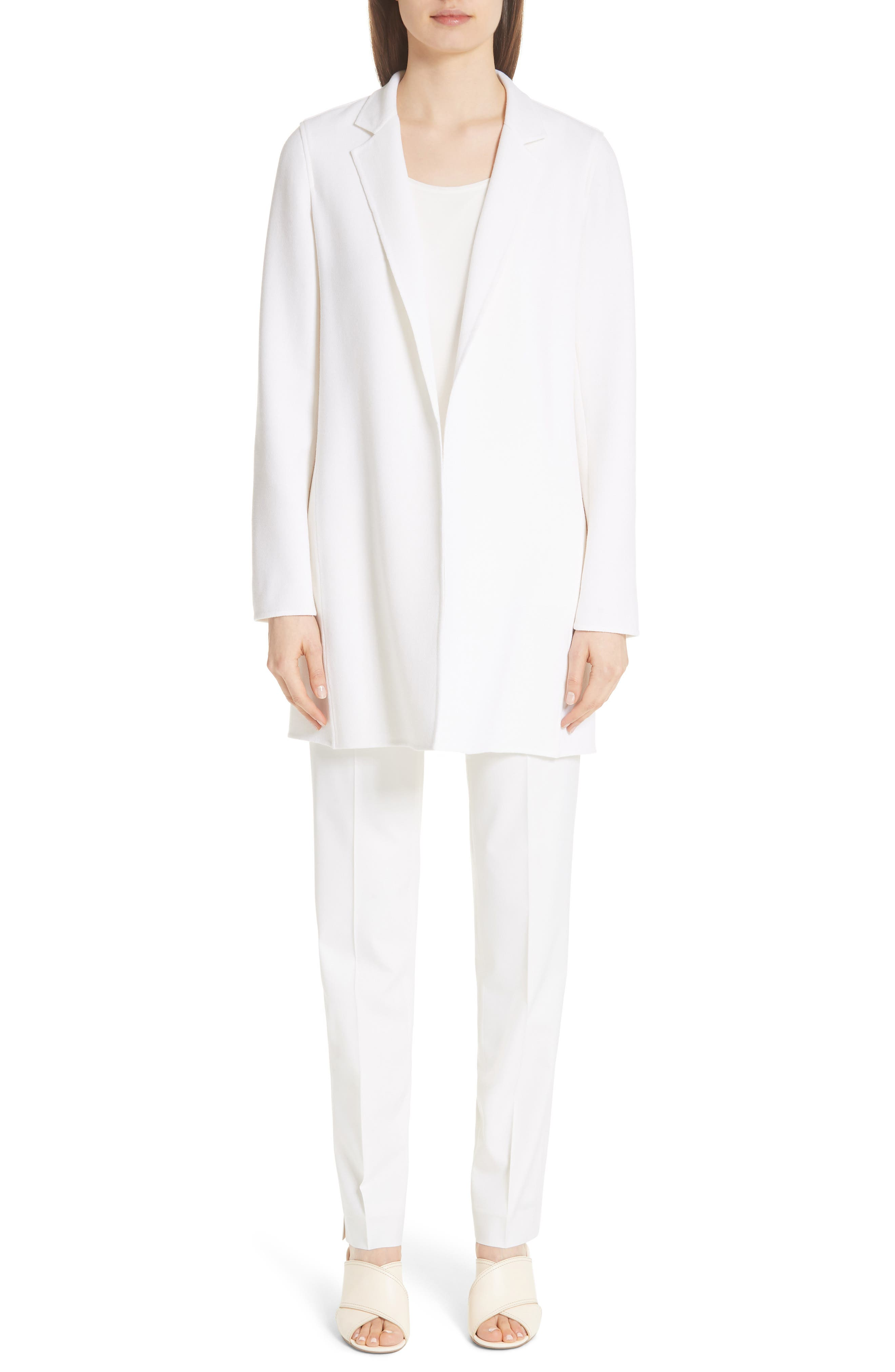 Irving Stretch Wool Pants,                             Alternate thumbnail 9, color,                             IVORY