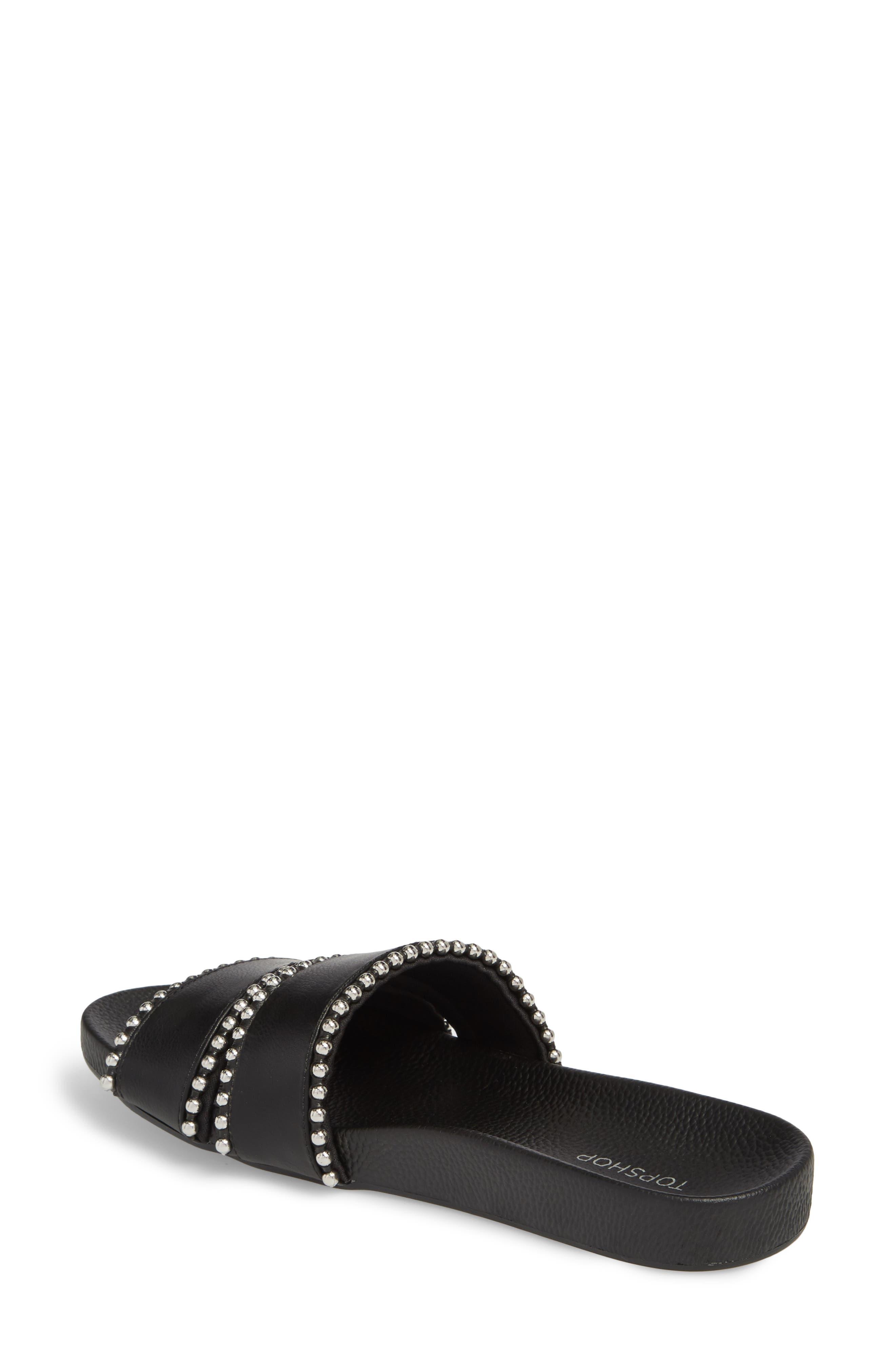 Rascal Studded Slide Sandal,                             Alternate thumbnail 3, color,