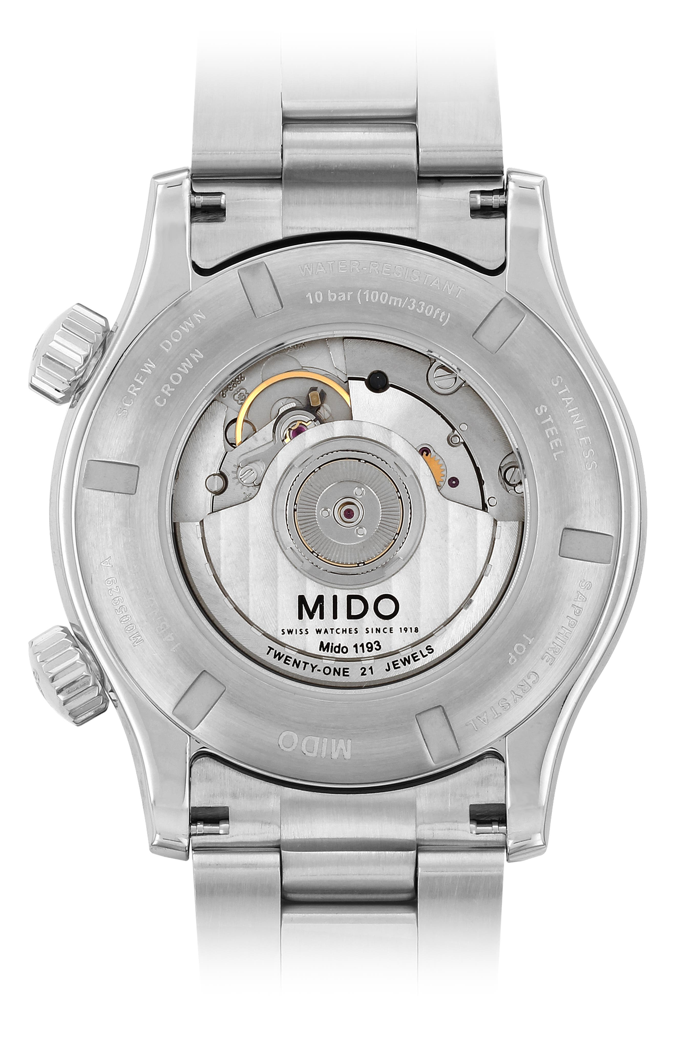 Multifort Automatic Bracelet Watch,                             Alternate thumbnail 2, color,                             SILVER