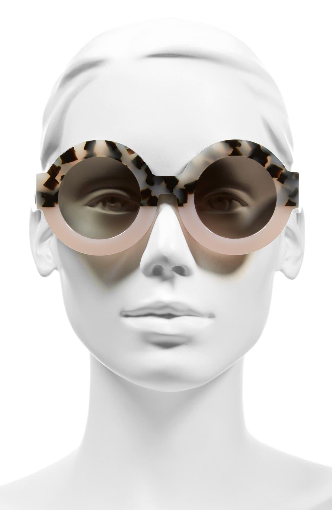 'Scapula' 45mm Round Sunglasses,                             Alternate thumbnail 6, color,