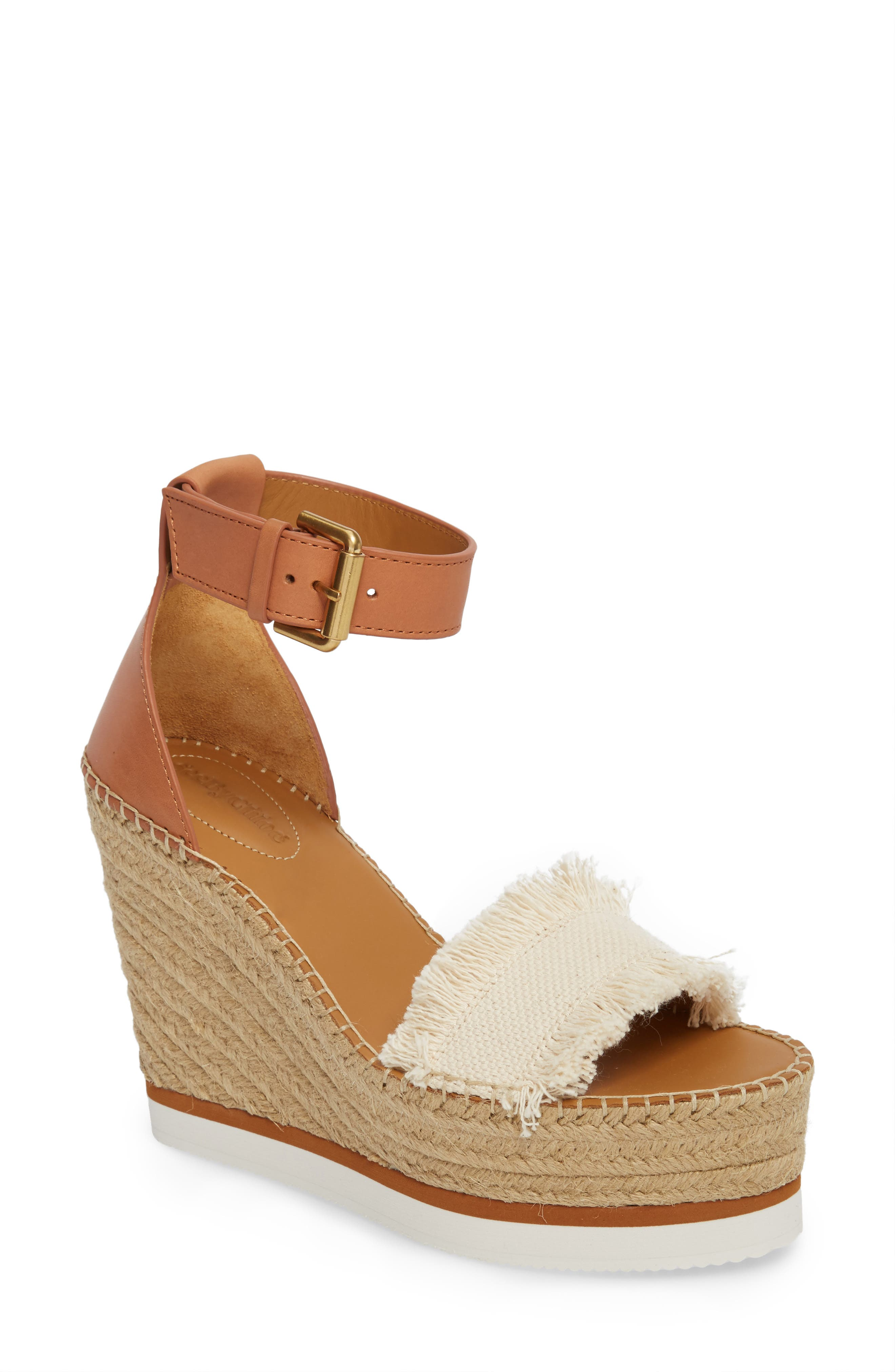 'Glyn' Espadrille Wedge Sandal,                         Main,                         color, BIG CANVAS