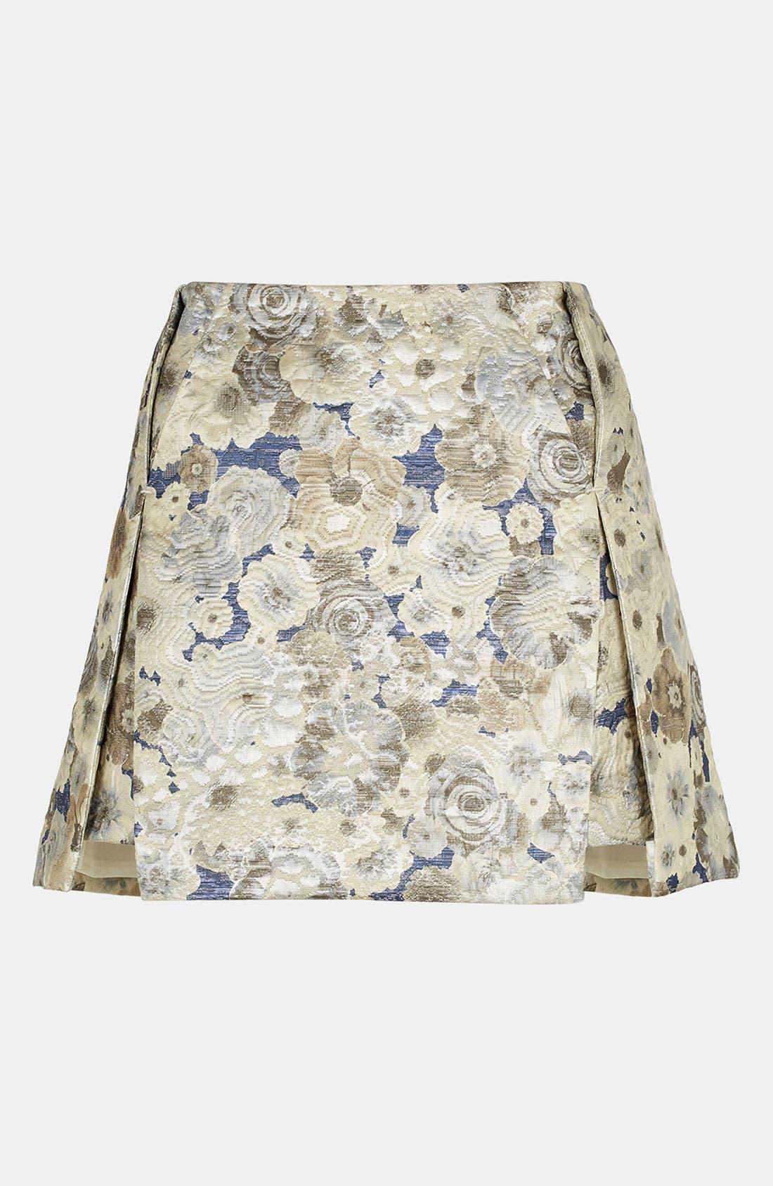 Floral Jacquard Skirt,                             Main thumbnail 1, color,                             450