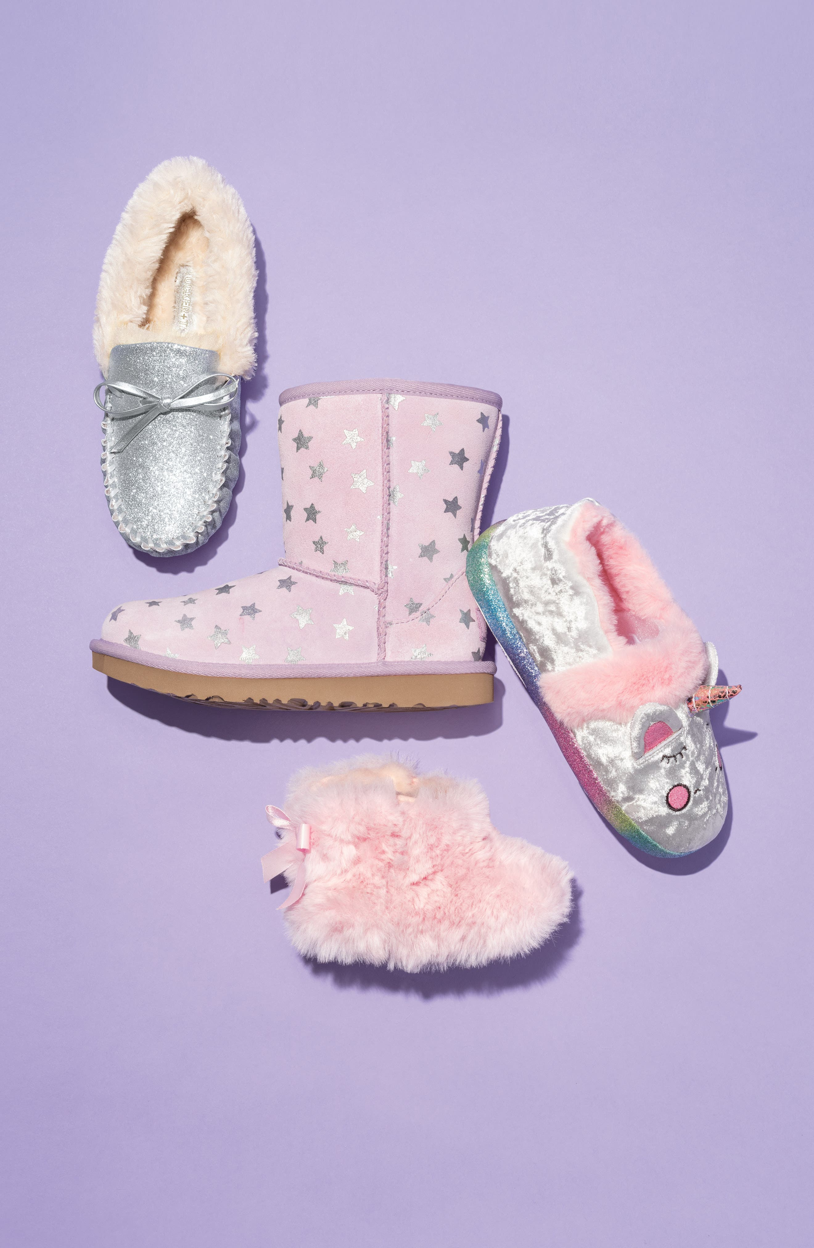 Classic Short II Water Resistant Stars Boot,                             Alternate thumbnail 7, color,                             LILAC