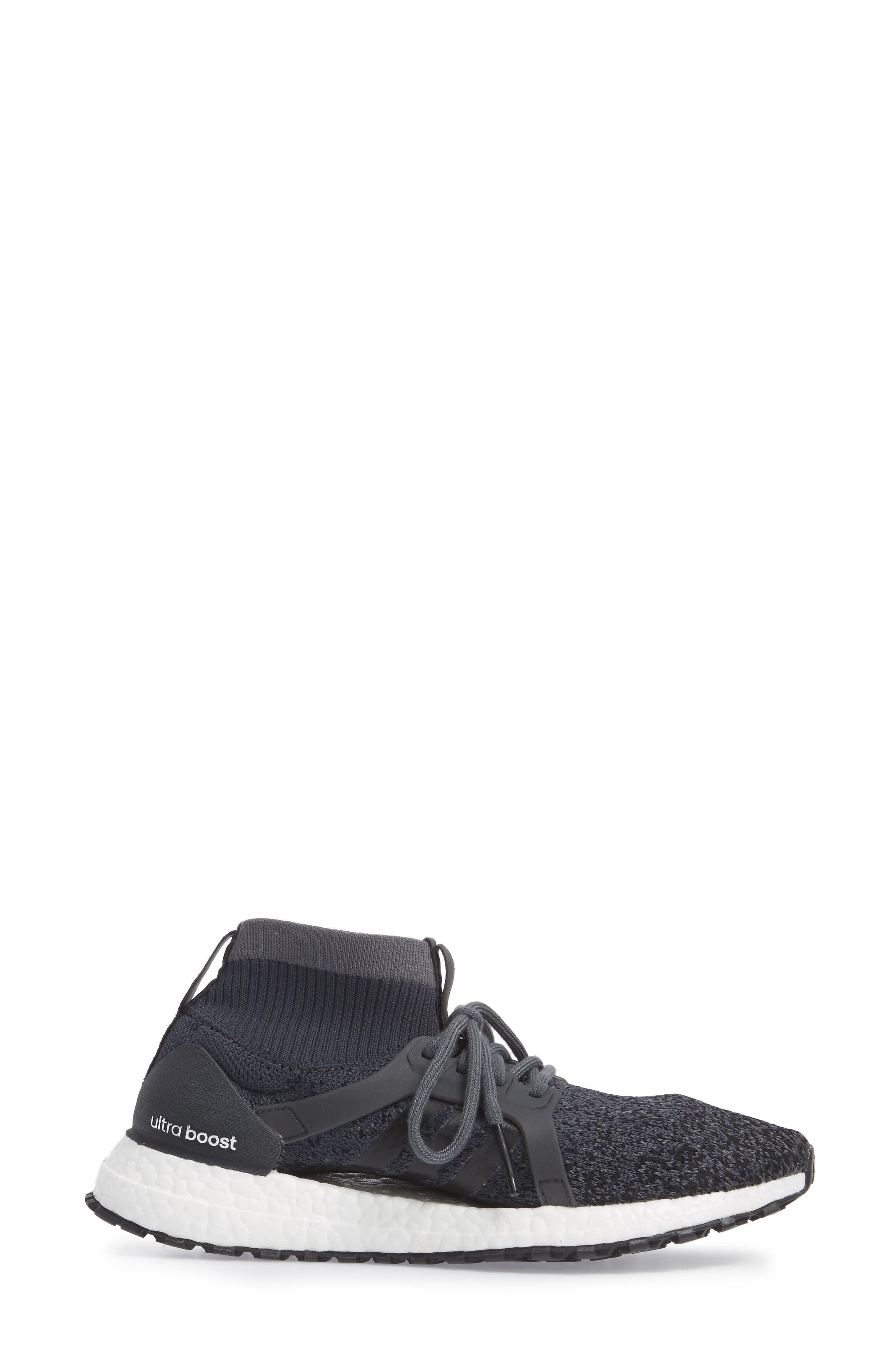 UltraBoost X All Terrain Water Resistant Running Shoe,                             Alternate thumbnail 3, color,                             001