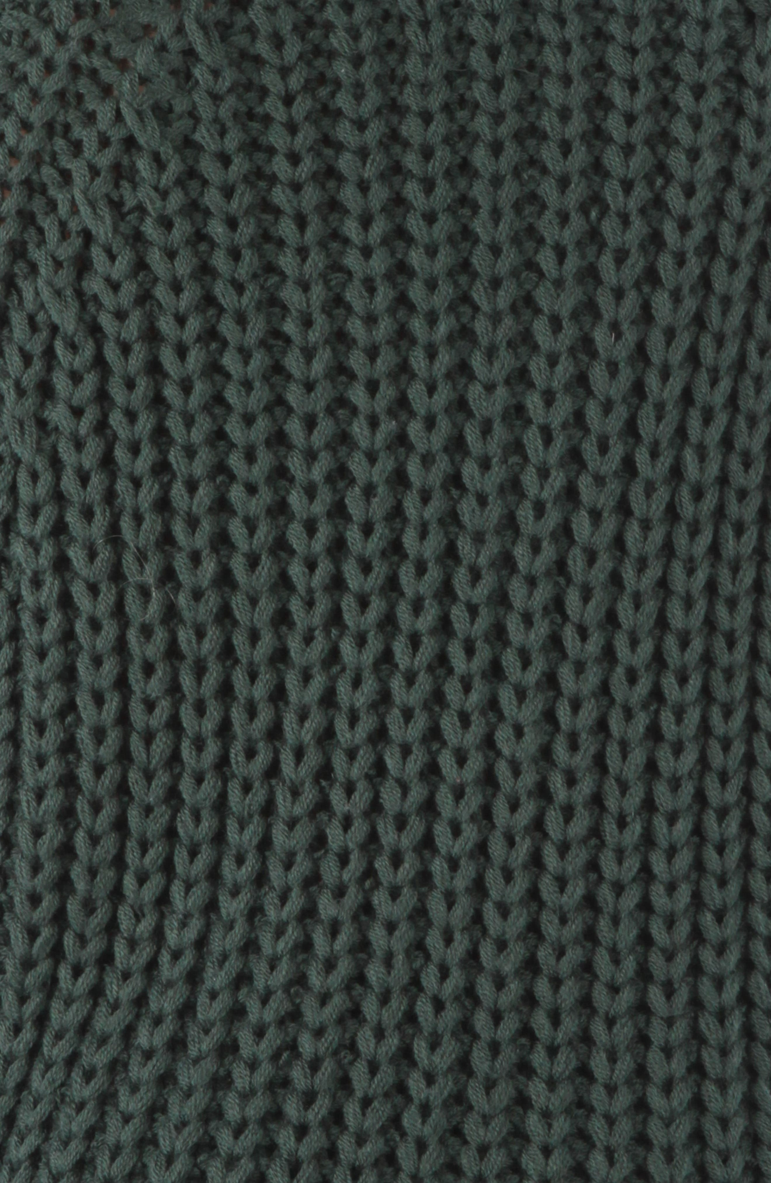 Valeria Sweater,                             Alternate thumbnail 4, color,                             FOREST GREEN