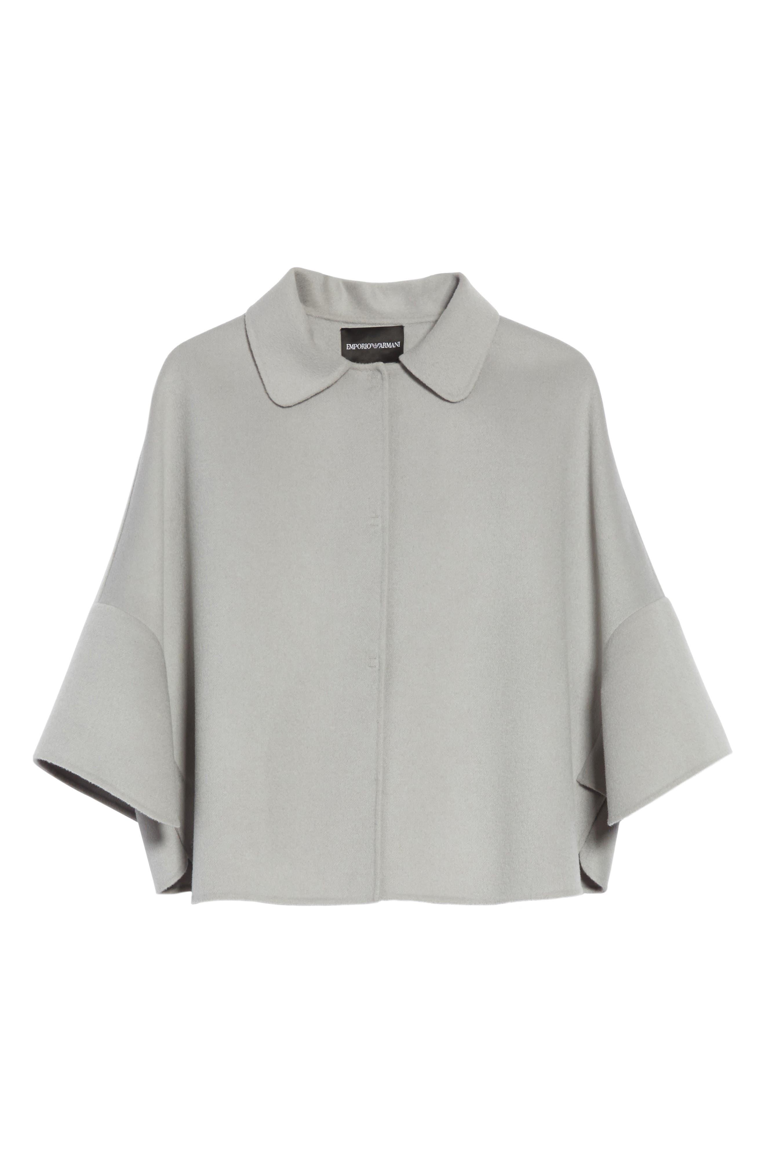 Wool & Cashmere Swing Caban Coat,                             Alternate thumbnail 5, color,