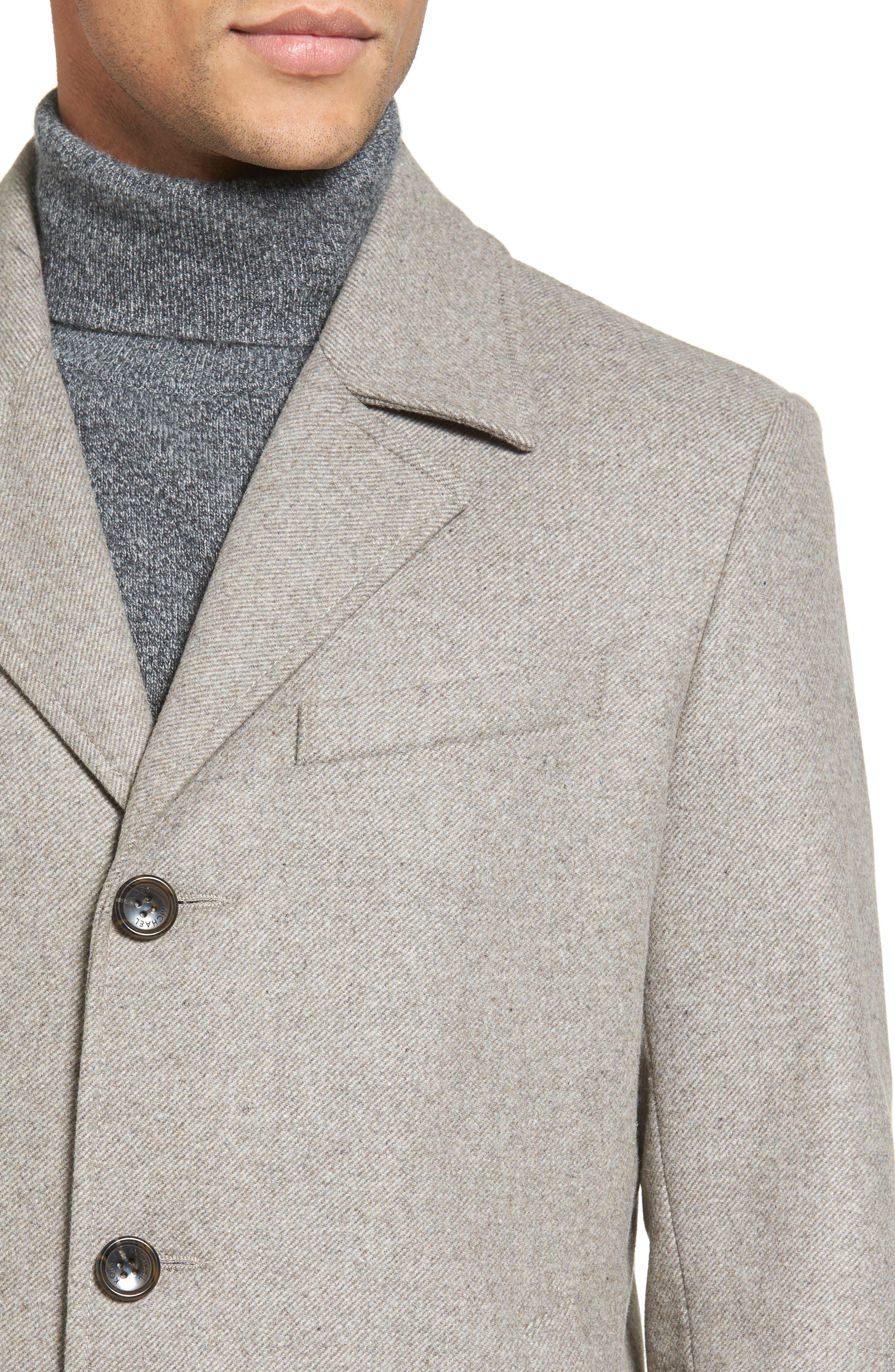 Slim Fit Wool Blend Topcoat,                             Alternate thumbnail 4, color,                             297