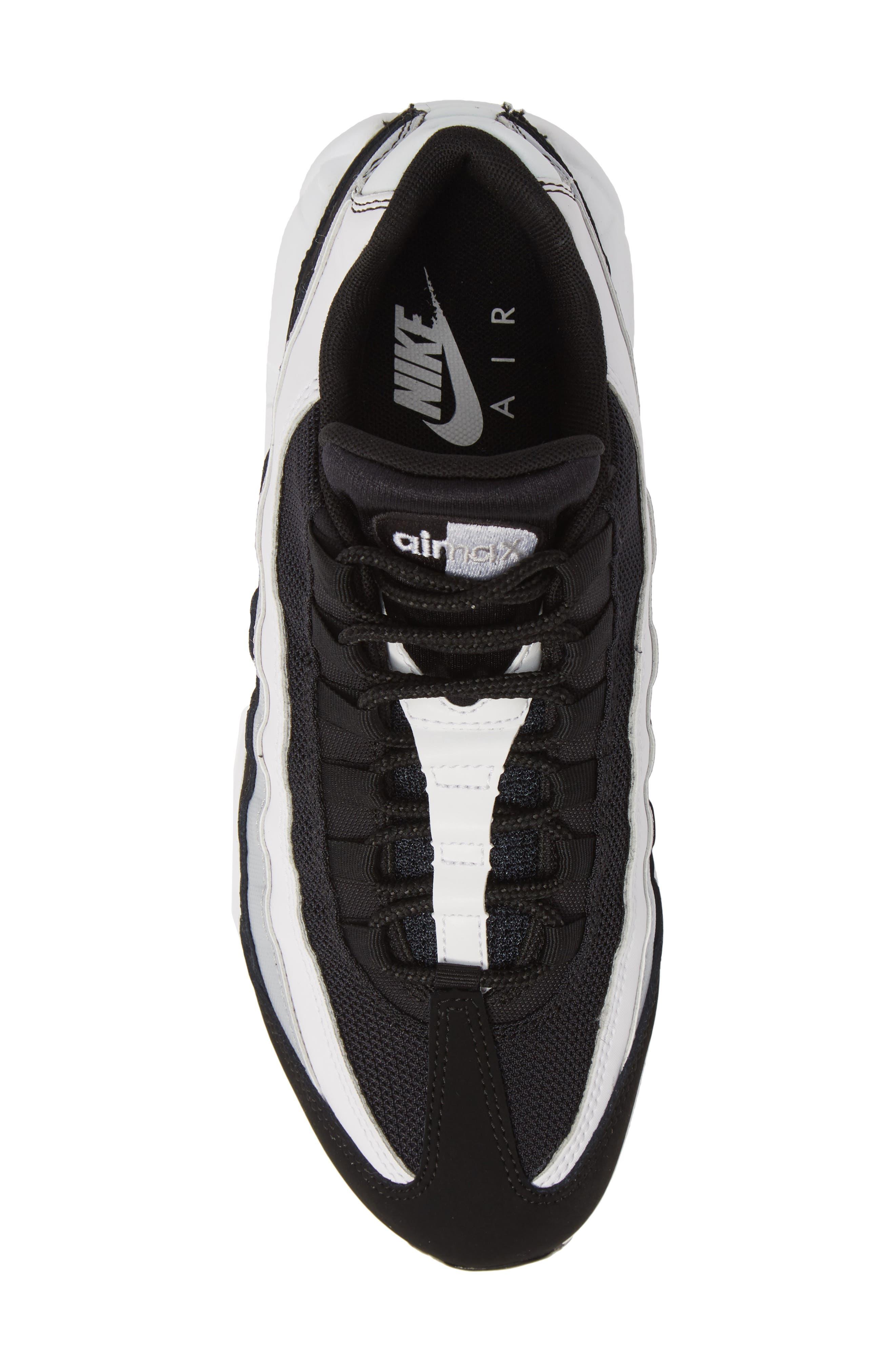 NIKE,                             'Air Max 95 Essential' Sneaker,                             Alternate thumbnail 5, color,                             BLACK/ WHITE/ WOLF GREY