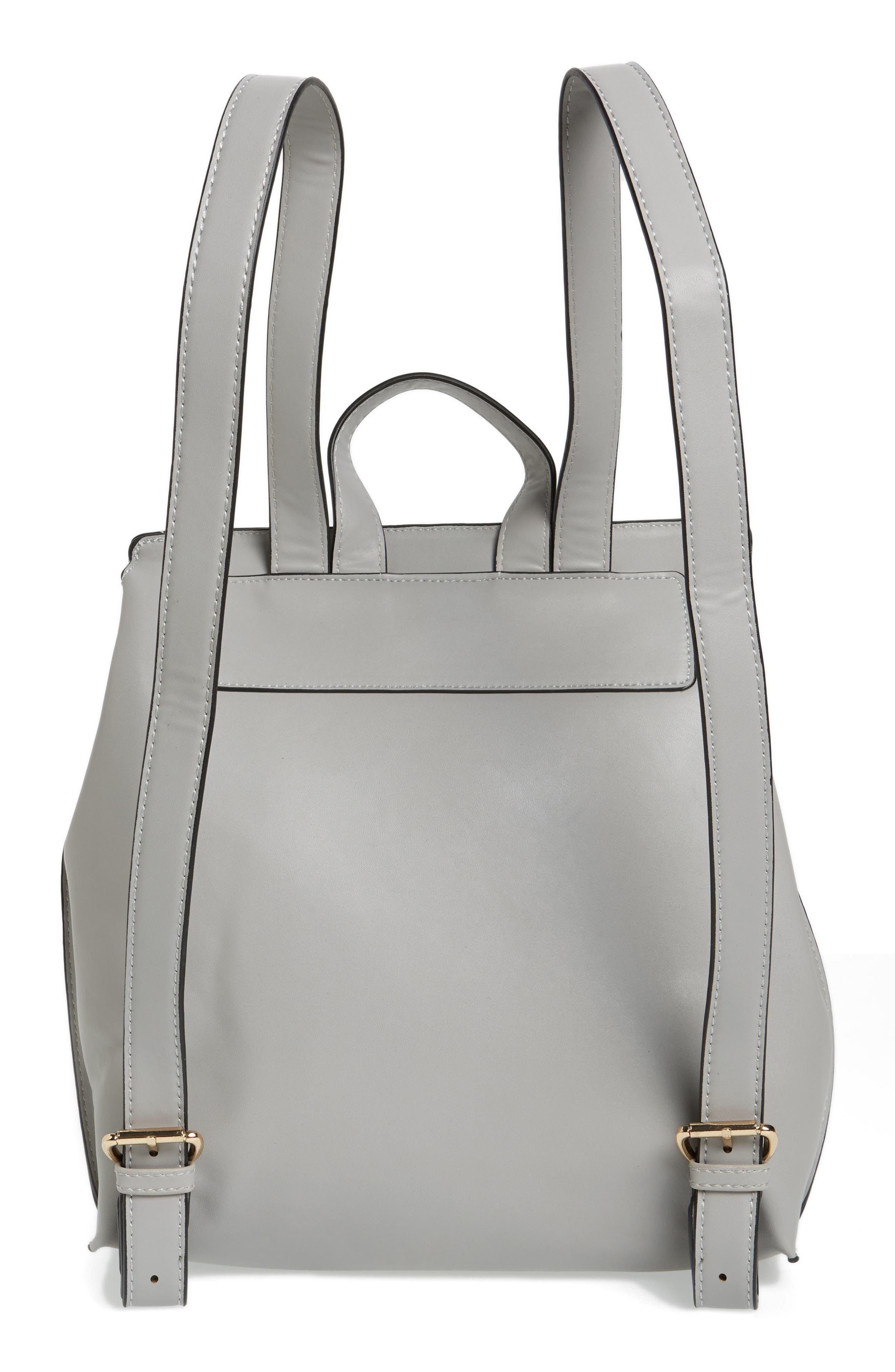 Selena Faux Leather Backpack,                             Alternate thumbnail 15, color,