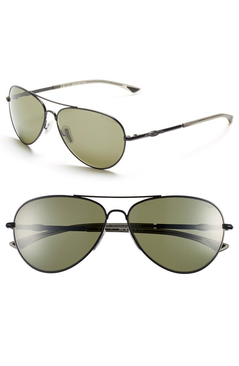 9a293f63eb3 Smith  Audible - ChromaPop  60mm Polarized Aviator Sunglasses ...