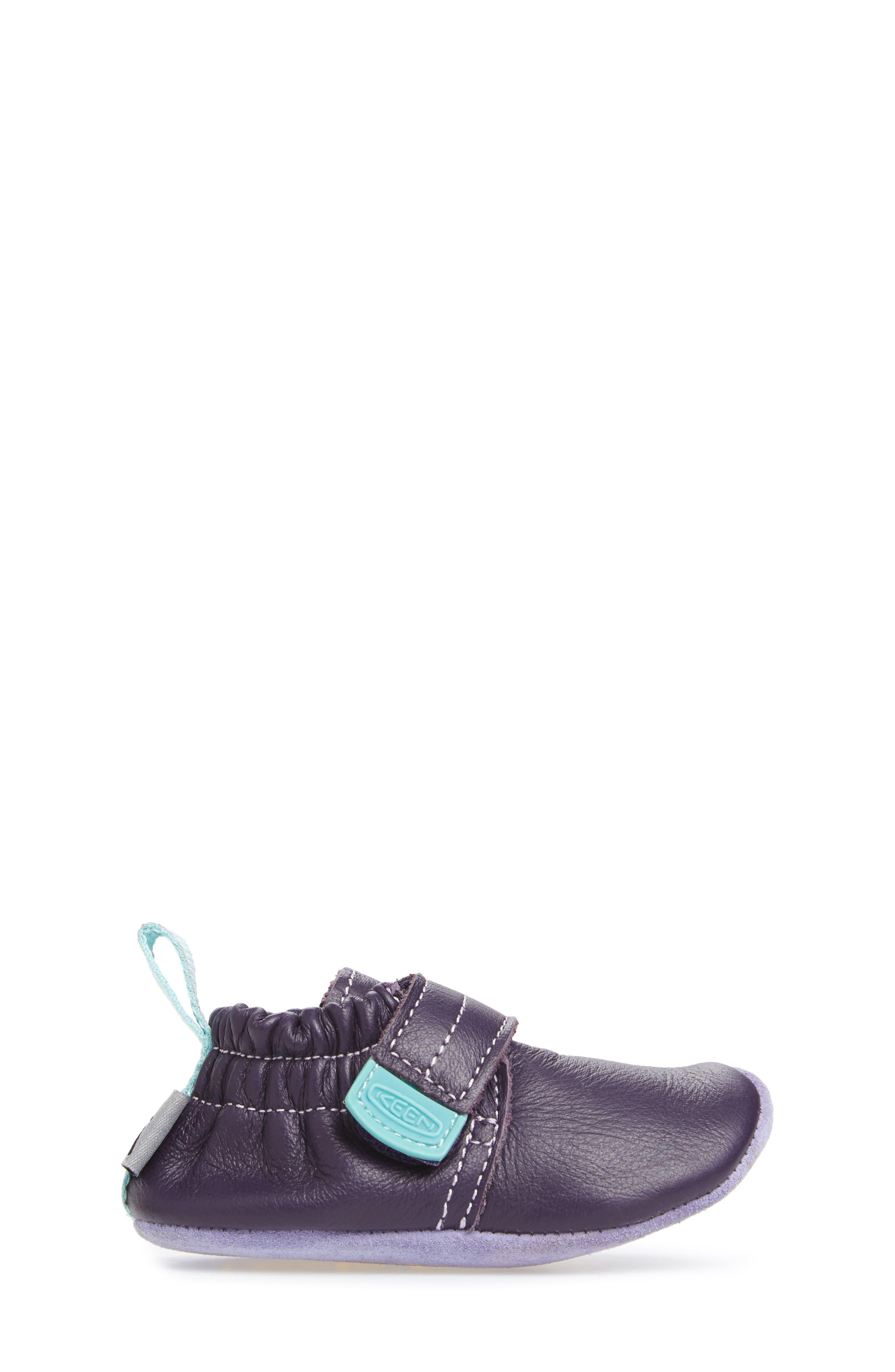 Leo Crib Shoe,                             Alternate thumbnail 3, color,                             PURPLE / SWEET LAVENDER