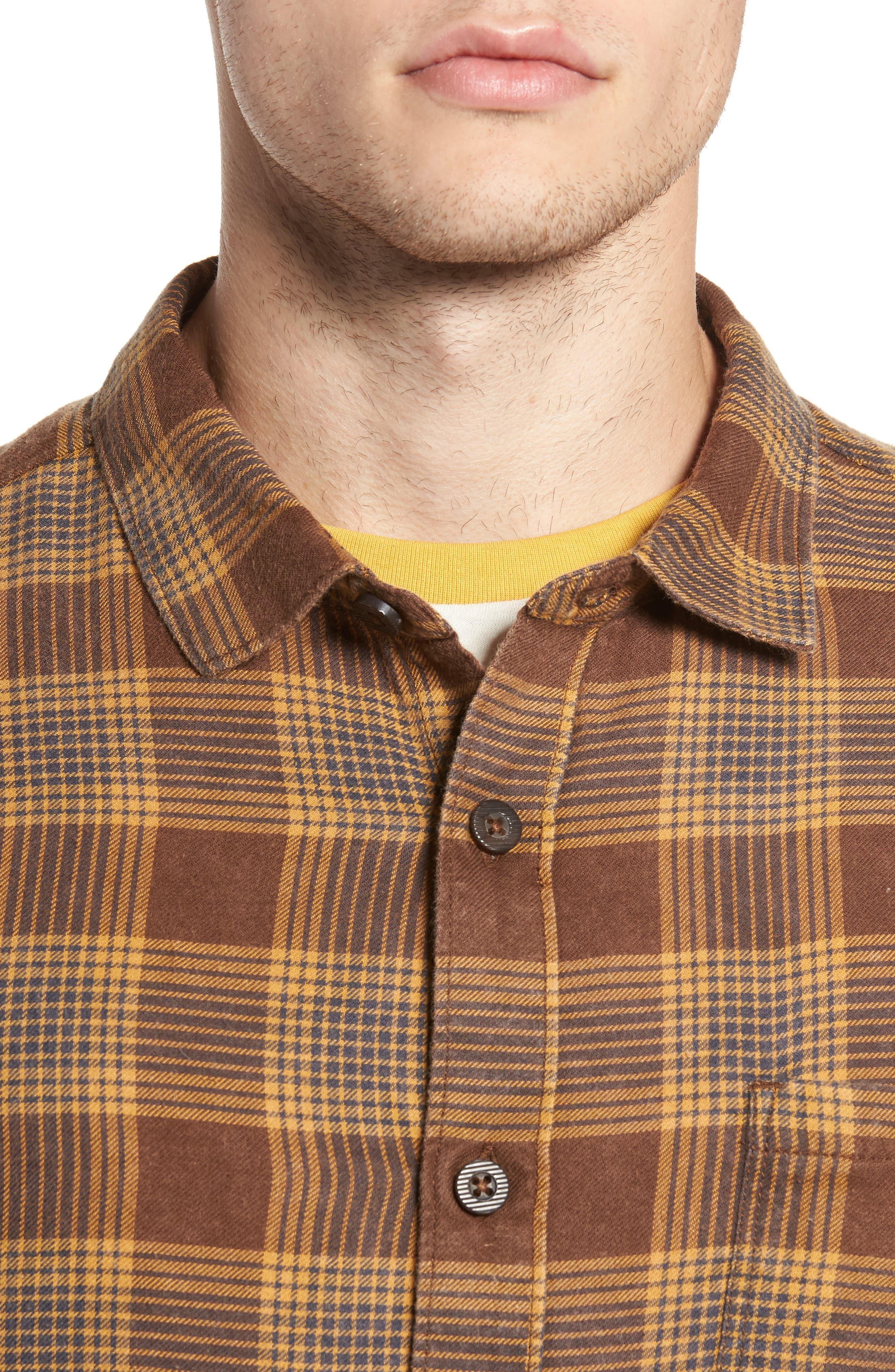 Freemont Flannel Shirt,                             Alternate thumbnail 4, color,                             205