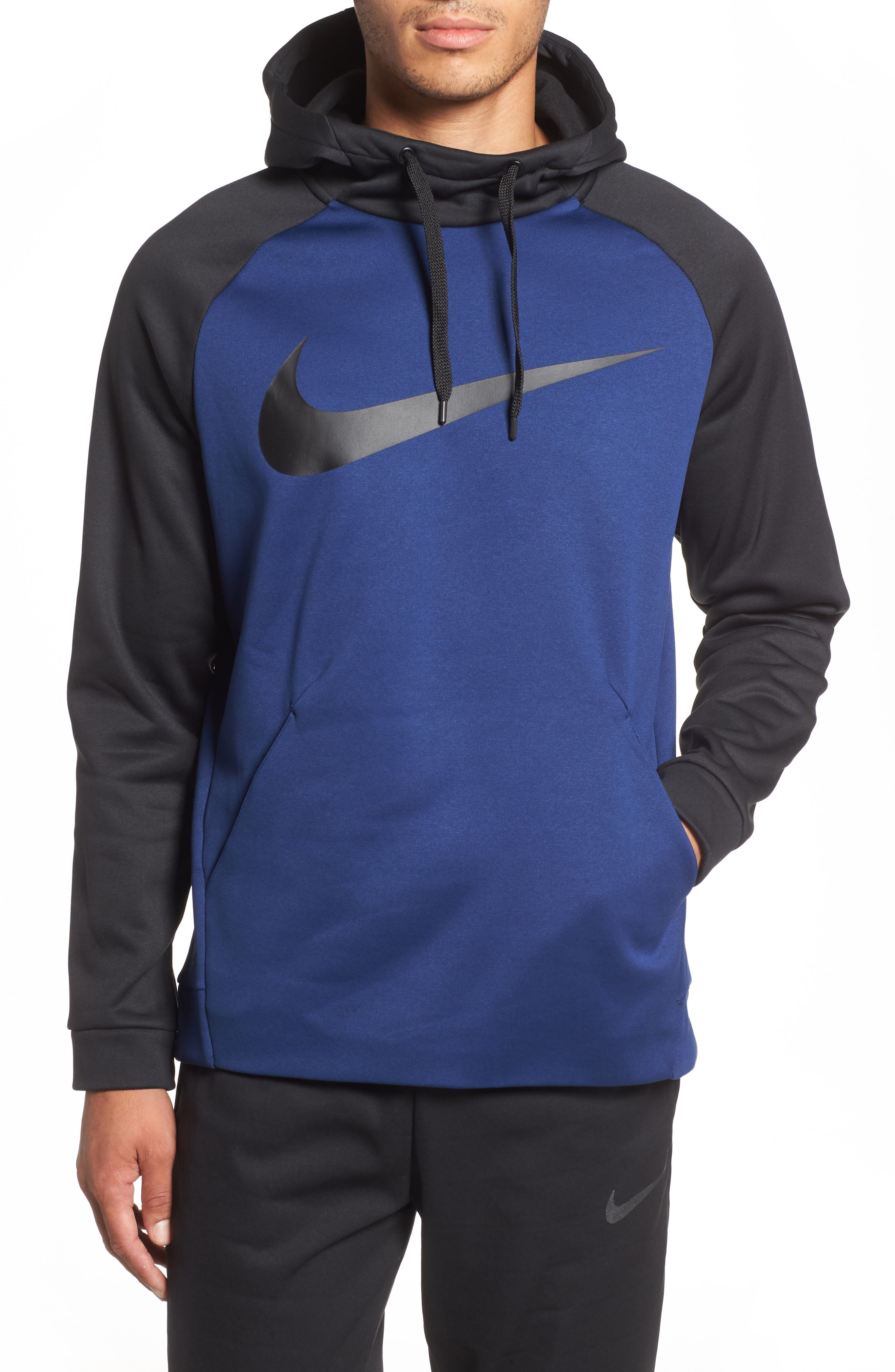 Nike Therma Swoosh Dry Pullover Hoodie Blue