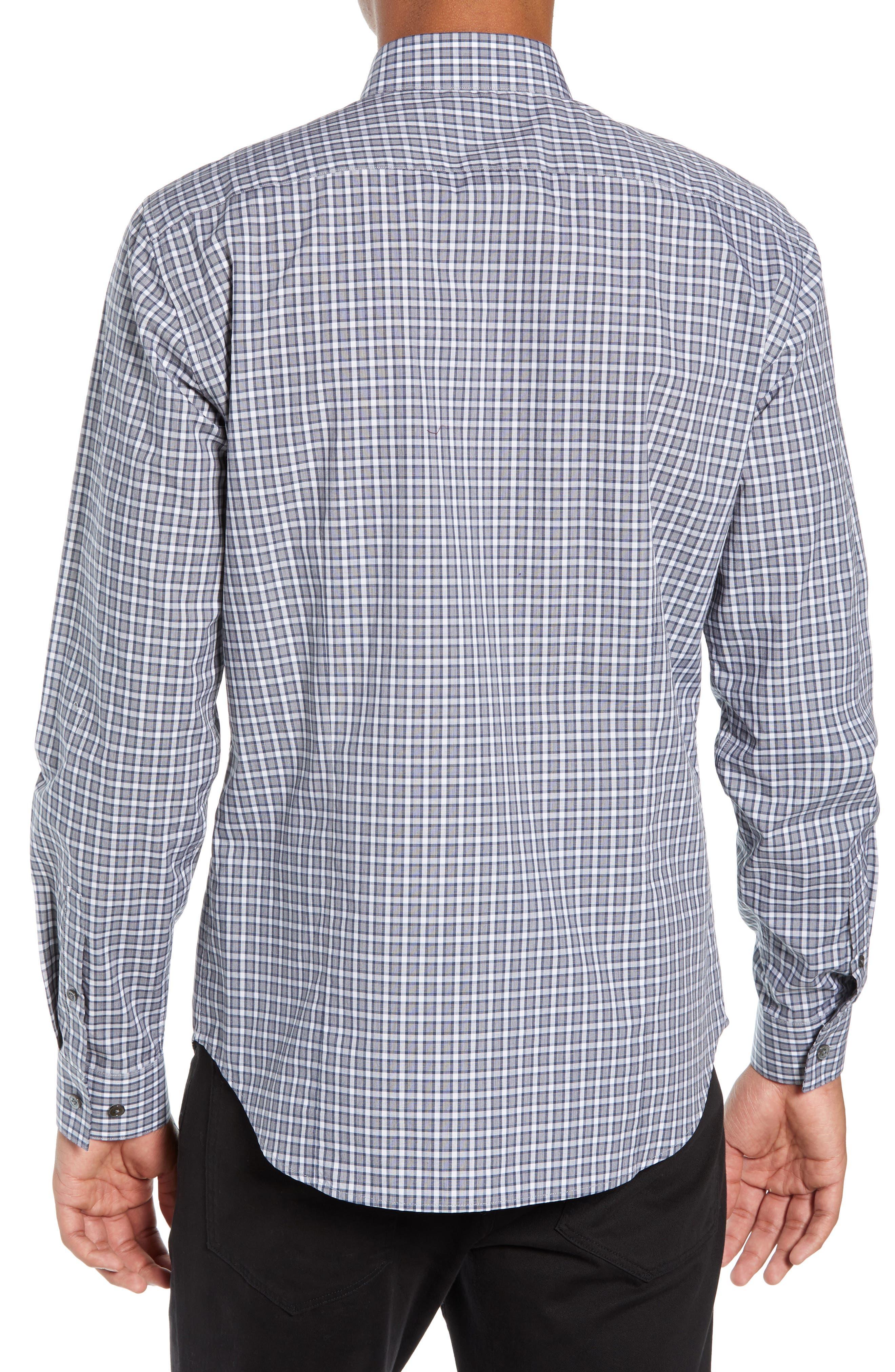 Sylvain Regular Fit Check Sport Shirt,                             Alternate thumbnail 3, color,                             NAVY MULTI