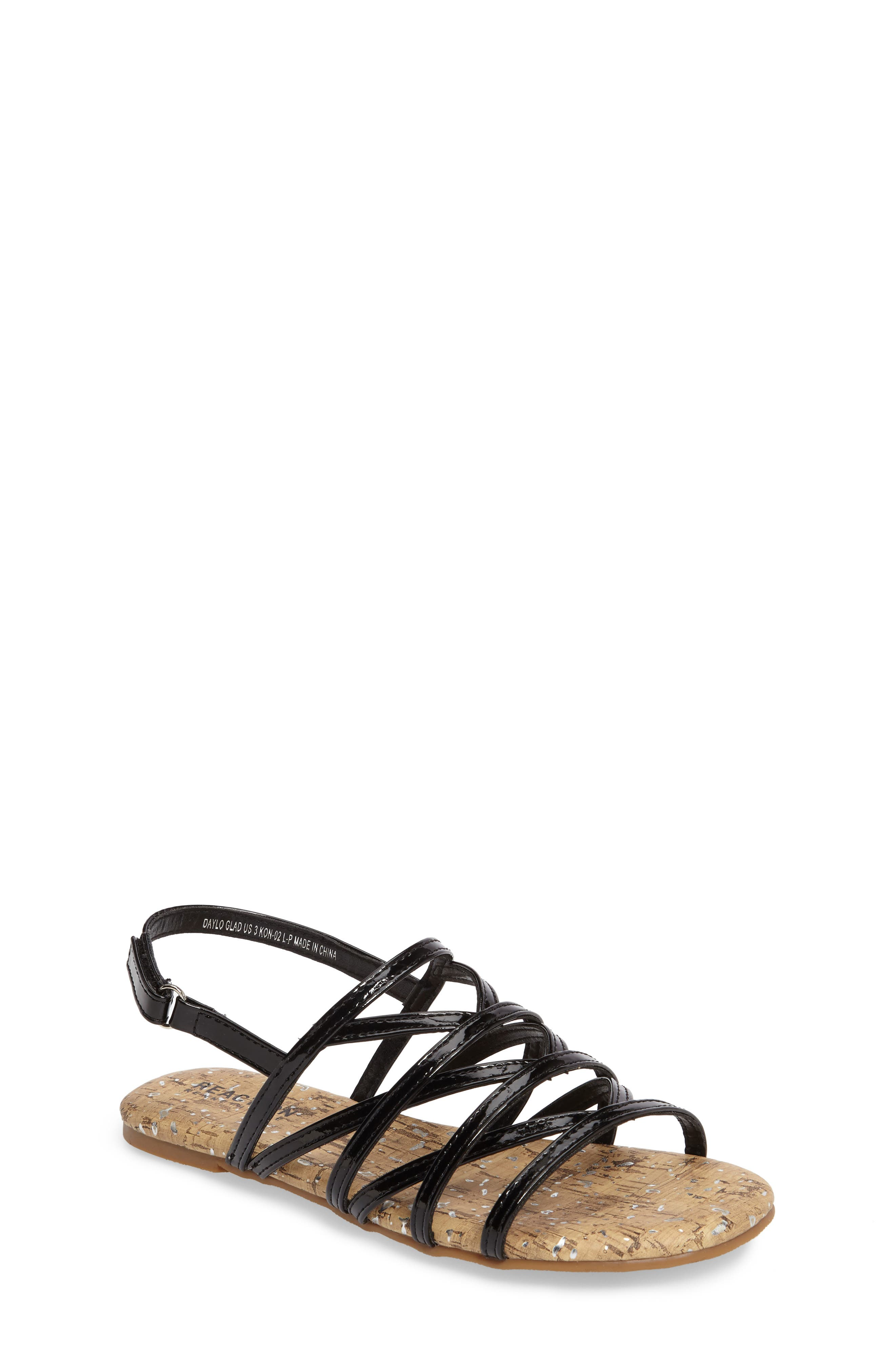 Daylo Glad Strappy Sandal,                             Main thumbnail 1, color,                             007