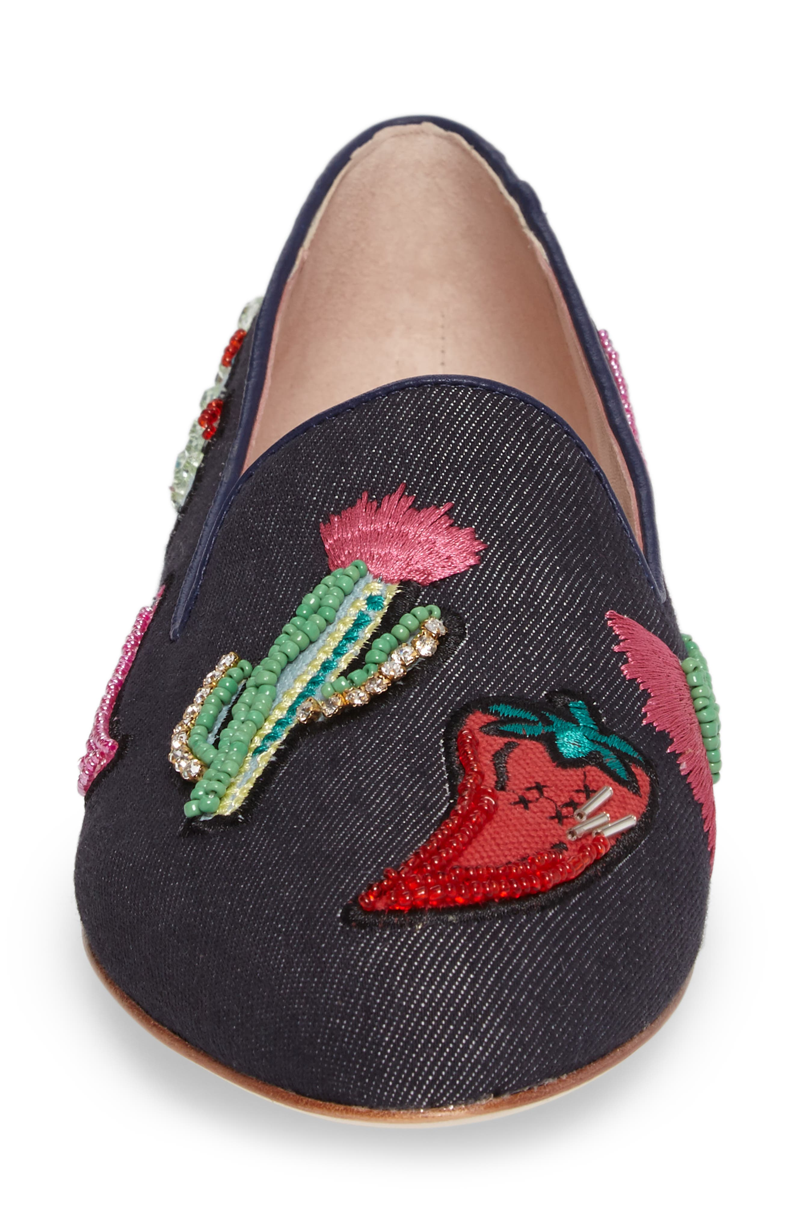saville embroidered loafer,                             Alternate thumbnail 4, color,                             489