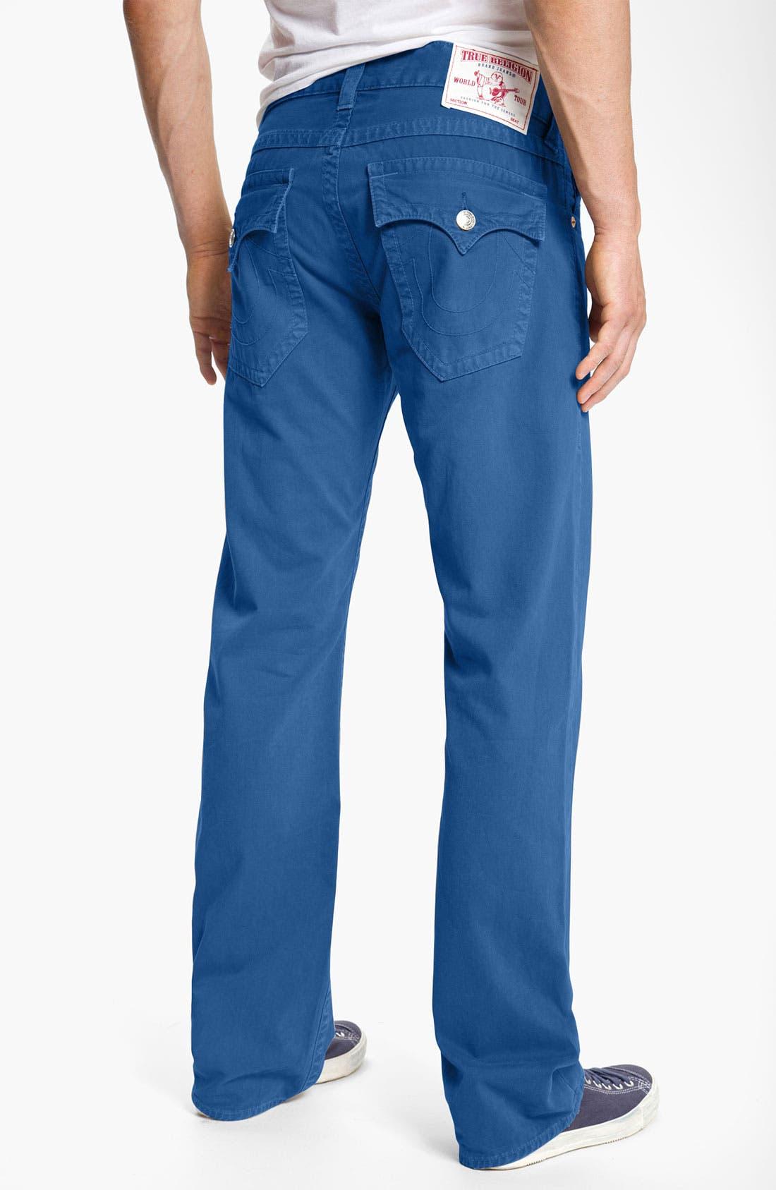 'Ricky' Straight Leg Cotton Twill Pants,                             Main thumbnail 4, color,