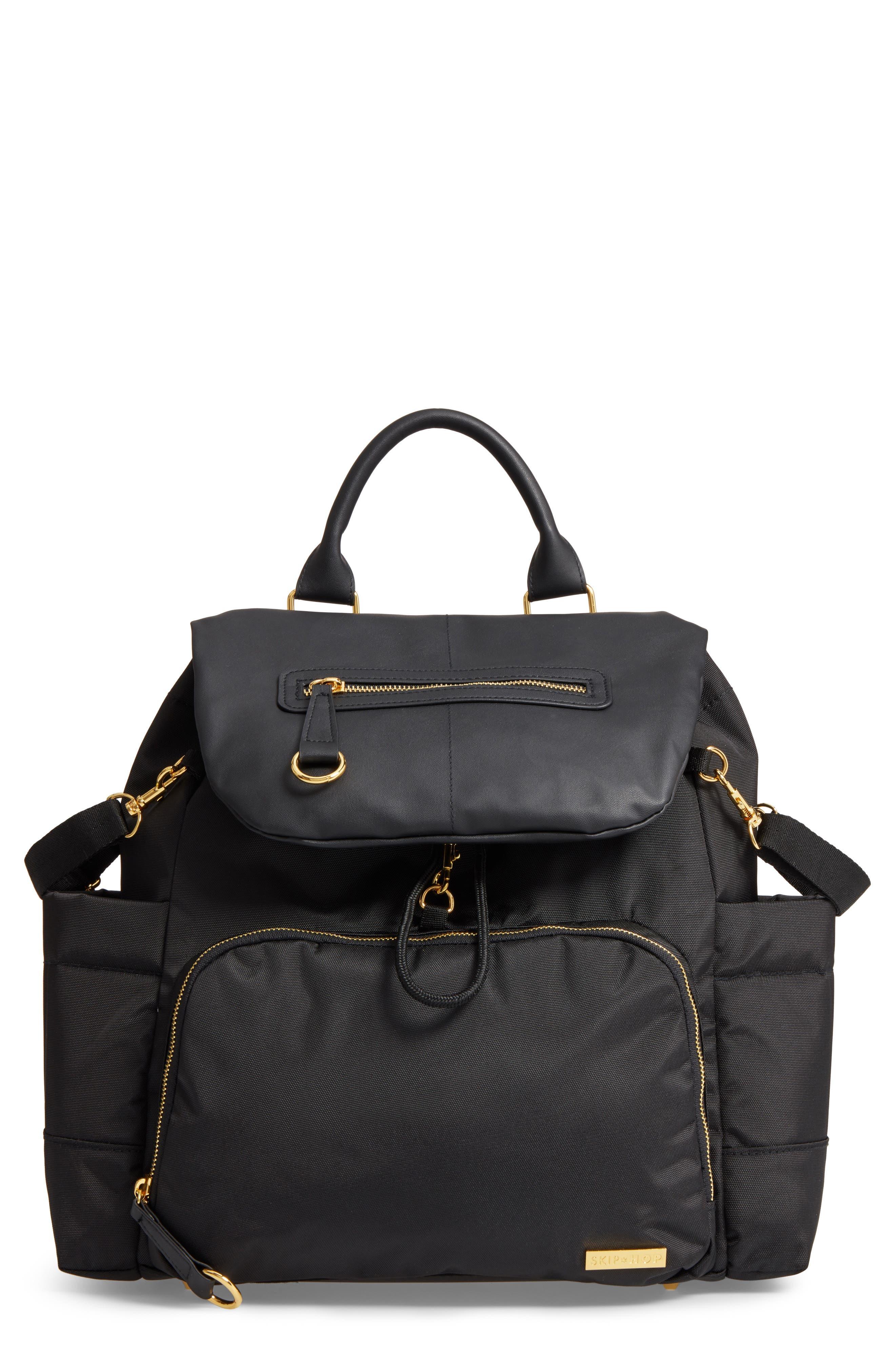 'Chelsea' Diaper Bag Backpack,                             Main thumbnail 1, color,                             BLACK